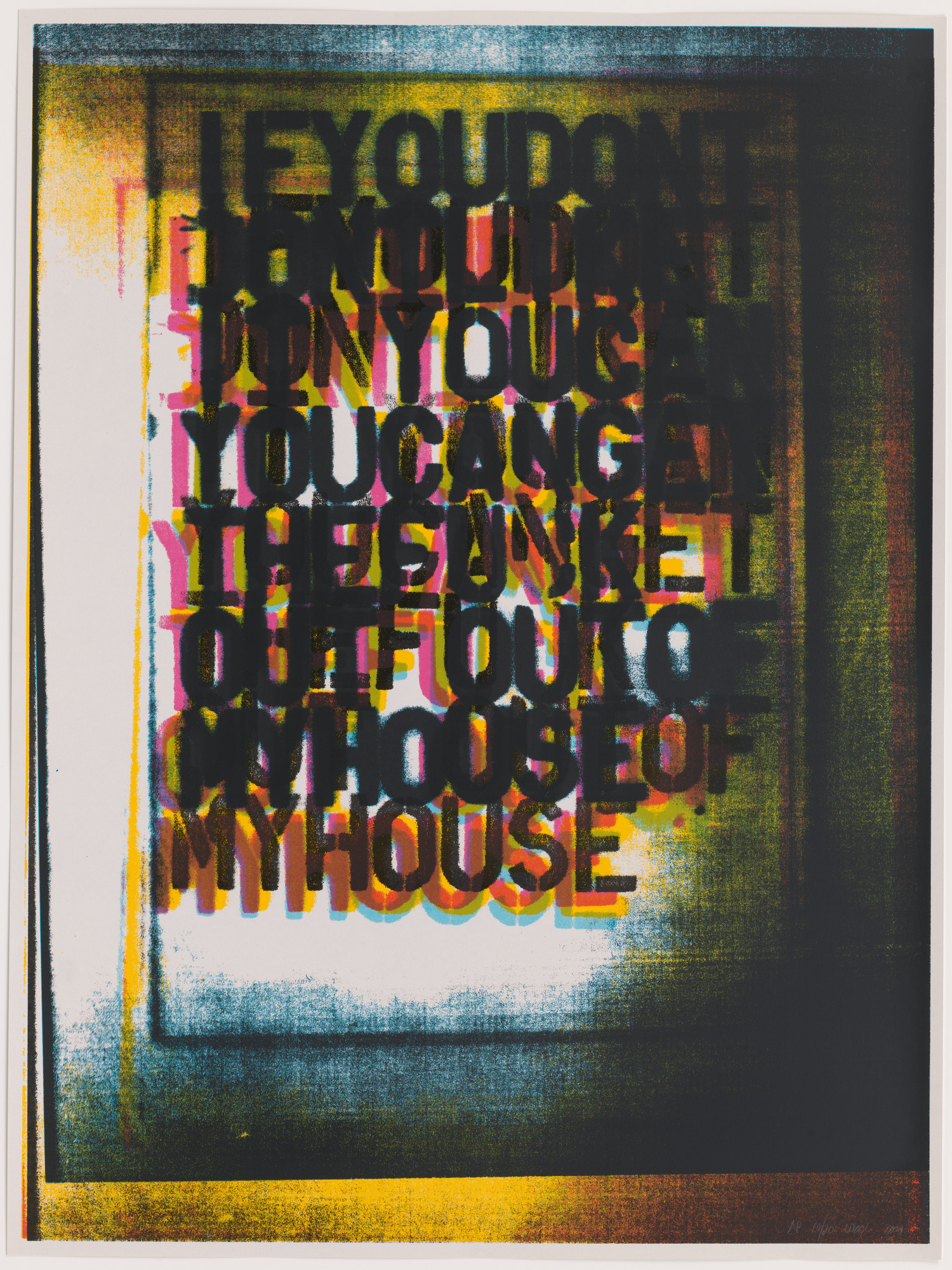 Christopher Wool. My House I. 2000