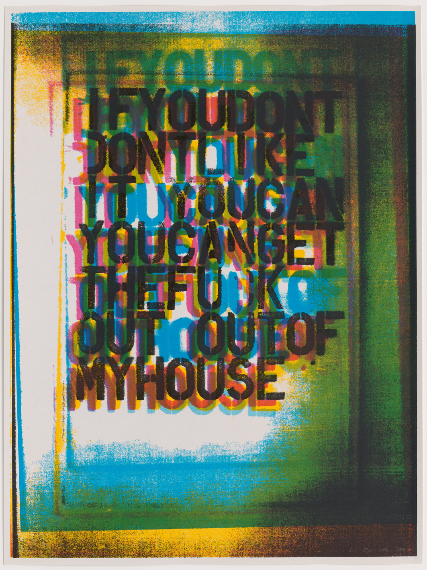 Christopher Wool. My House III. 2000