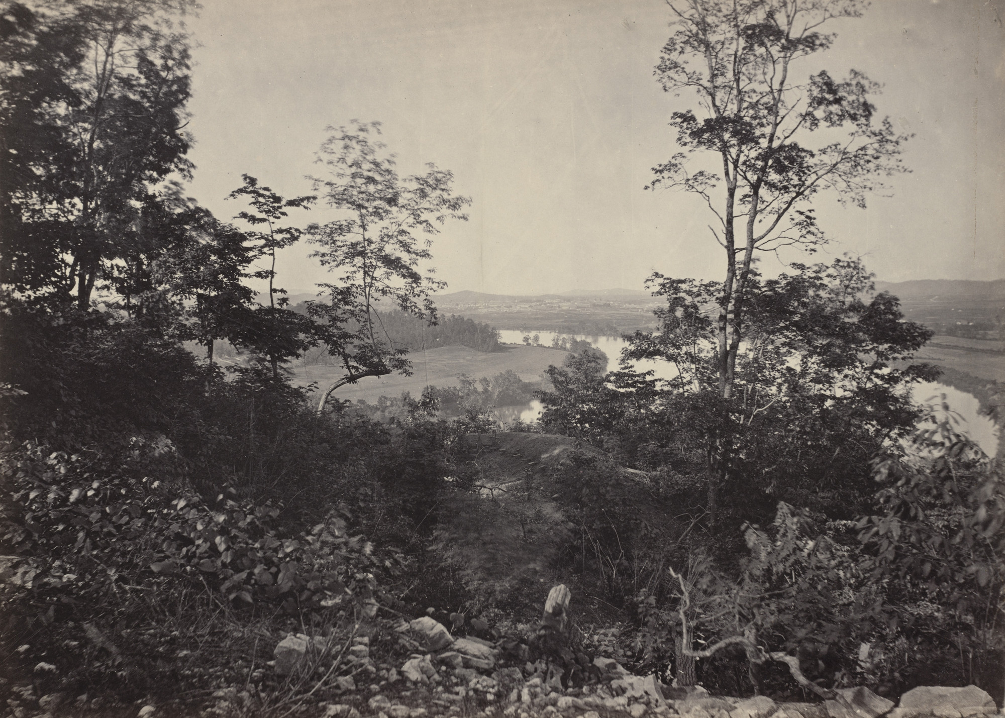 George Barnard. Chattanooga Valley, from Lookout Mountain from the album Photographic Views of Sherman's Campaign. 1864-65