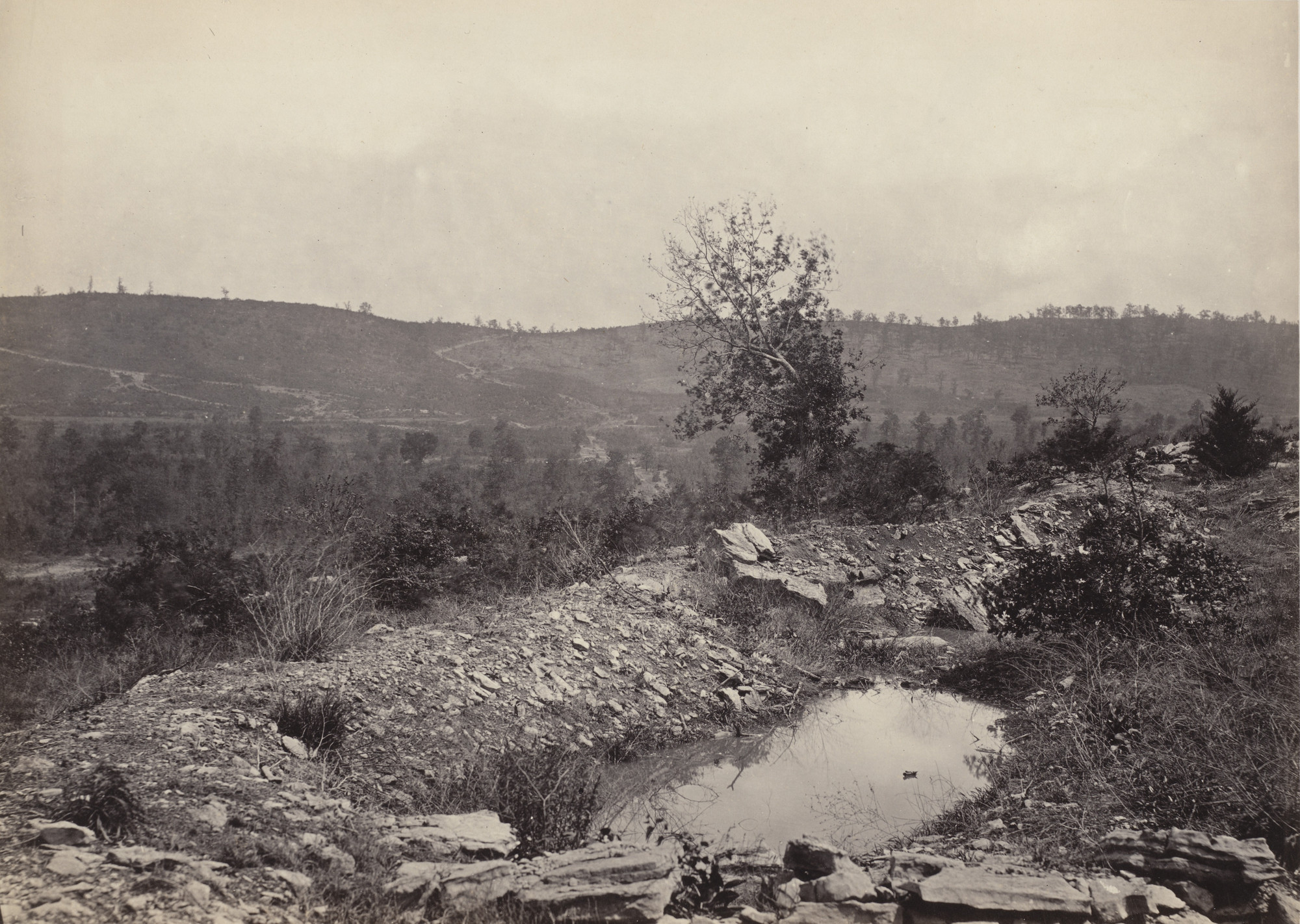 George Barnard. Mission Ridge, from Orchard Knob from the album Photographic Views of Sherman's Campaign. 1864-65