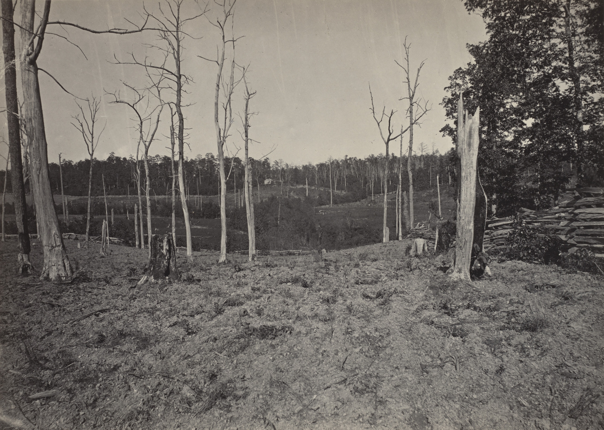 George Barnard. The Battle Ground of Resaca, No. 1 from the album Photographic Views of Sherman's Campaign. 1864-65