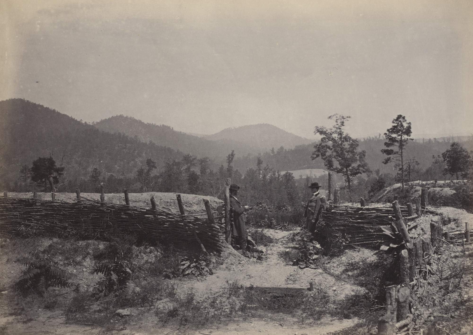 George Barnard. The Allatoona Pass from the album Photographic Views of Sherman's Campaign. 1864-65