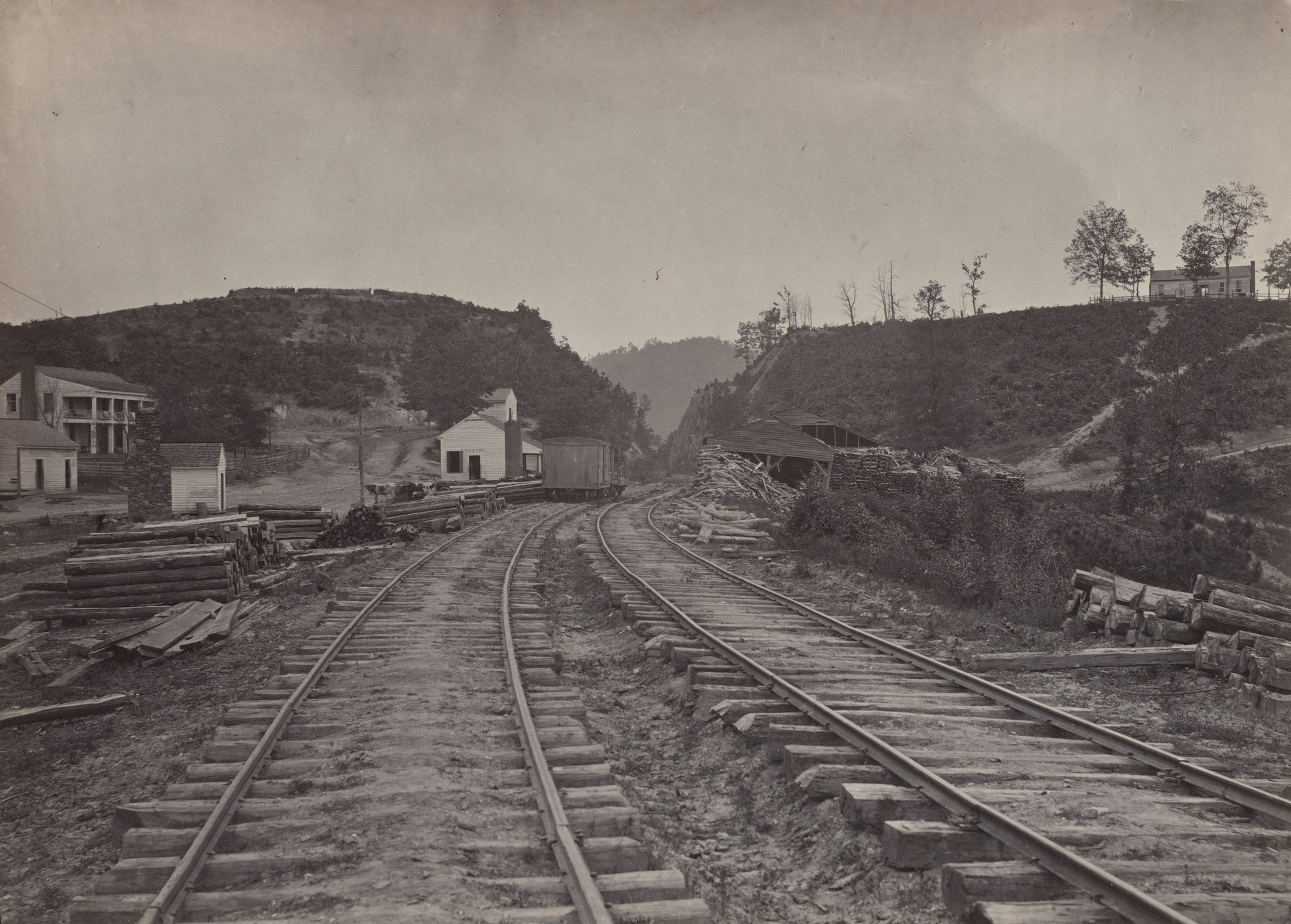 George Barnard. The Allatoona Pass, looking North from the album Photographic Views of Sherman's Campaign. 1864-65