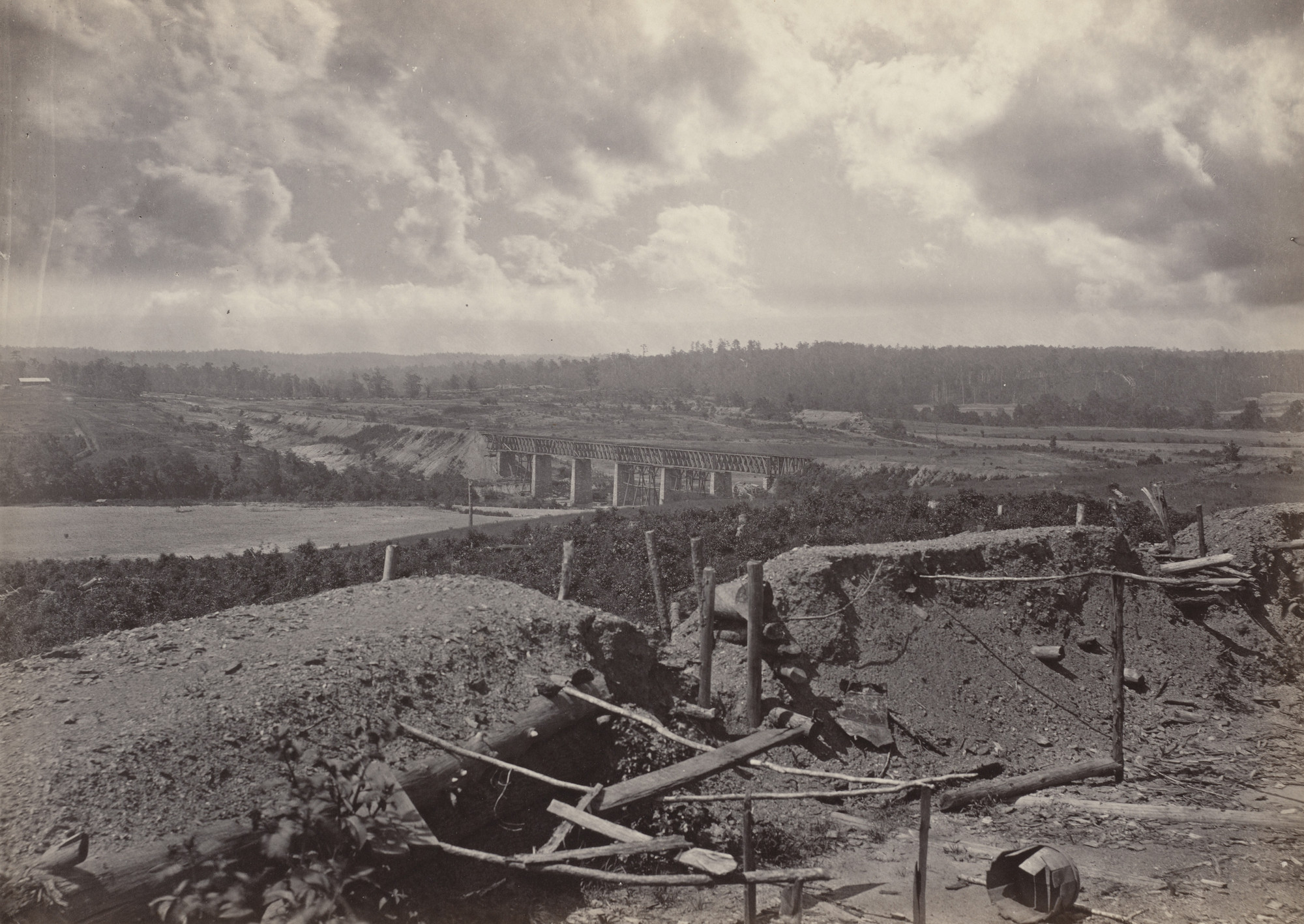 George Barnard. South Bank of the Chattahoochie from the album Photographic Views of Sherman's Campaign. 1864-65