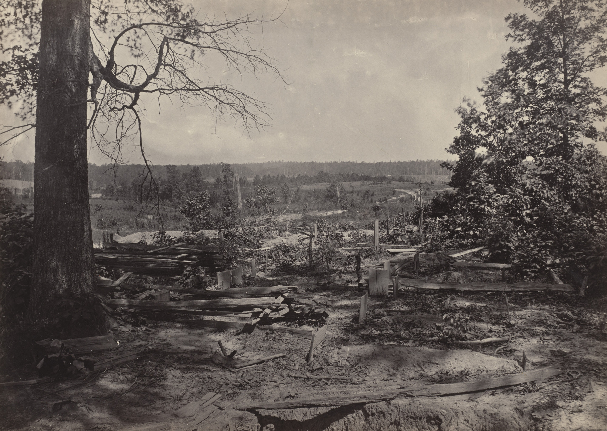 George Barnard. The Battlefield of Peach Tree Creek from the album Photographic Views of Sherman's Campaign. 1864-65