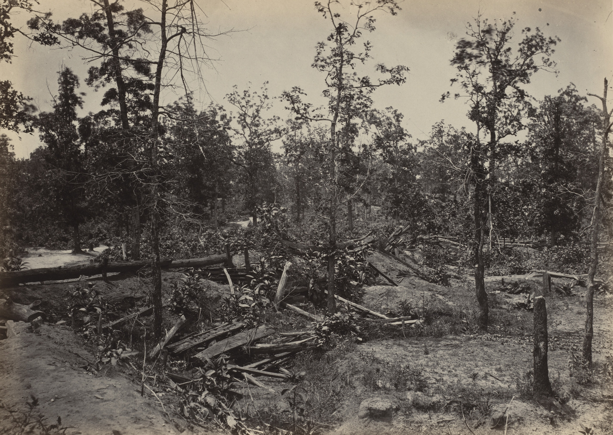 George Barnard. Battlefield of Atlanta, 22nd July, 1864, No. 1 from the album Photographic Views of Sherman's Campaign. 1864