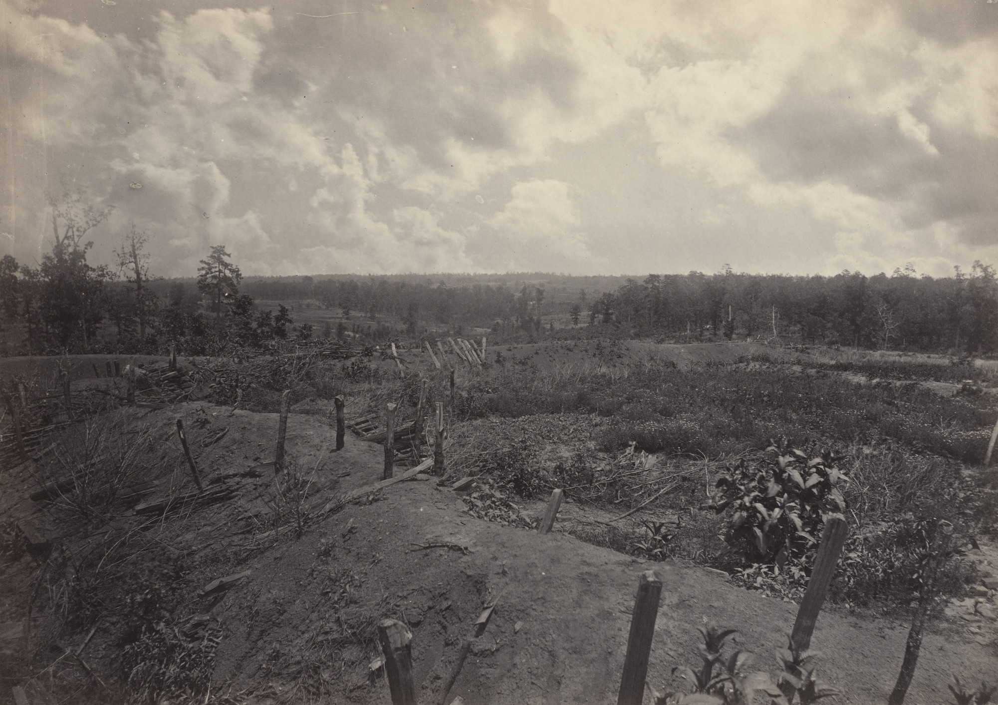George Barnard. Battlefield of Atlanta, 22nd July, 1864, No. 2 from the album Photographic Views of Sherman's Campaign. 1864