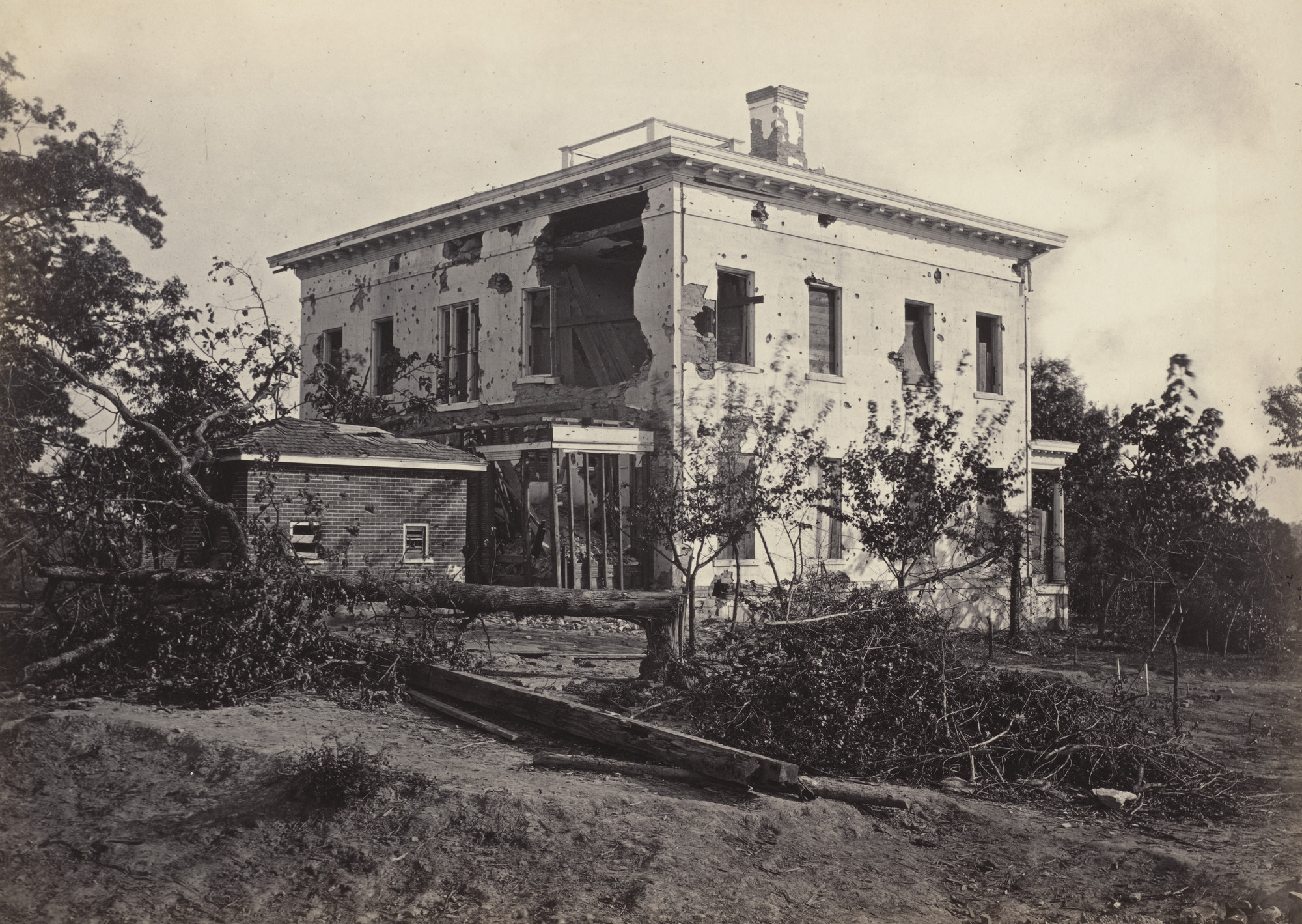 George Barnard. The Potter House, Atlanta from the album Photographic Views of Sherman's Campaign. 1864-65