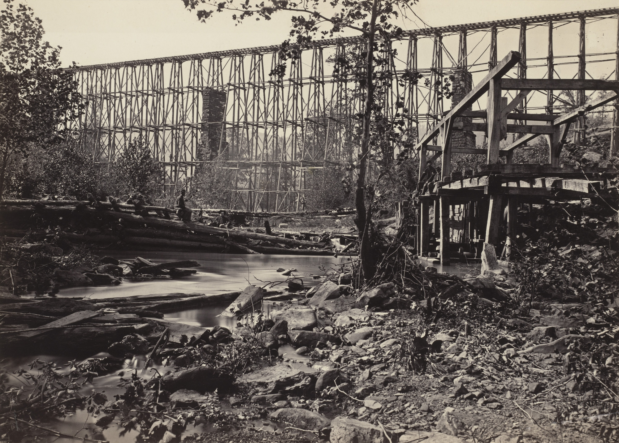 George Barnard. Trestle Bridge, at Whiteside from the album Photographic Views of Sherman's Campaign. 1864-65