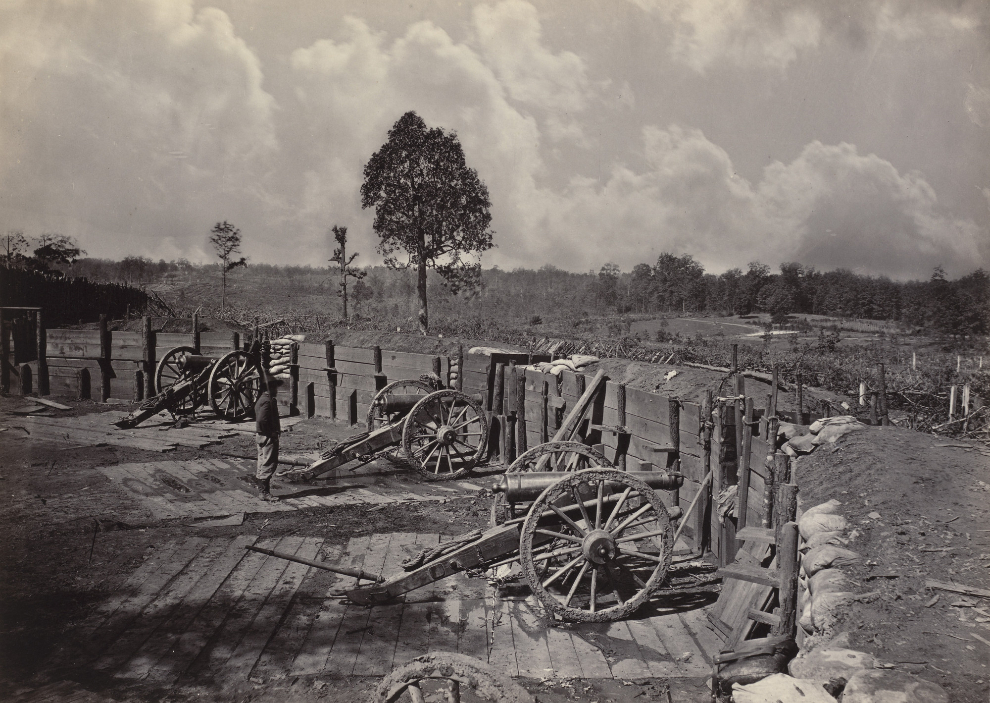 George Barnard. Rebel Works in front of Atlanta, No. 2 from the album Photographic Views of Sherman's Campaign. 1864-65