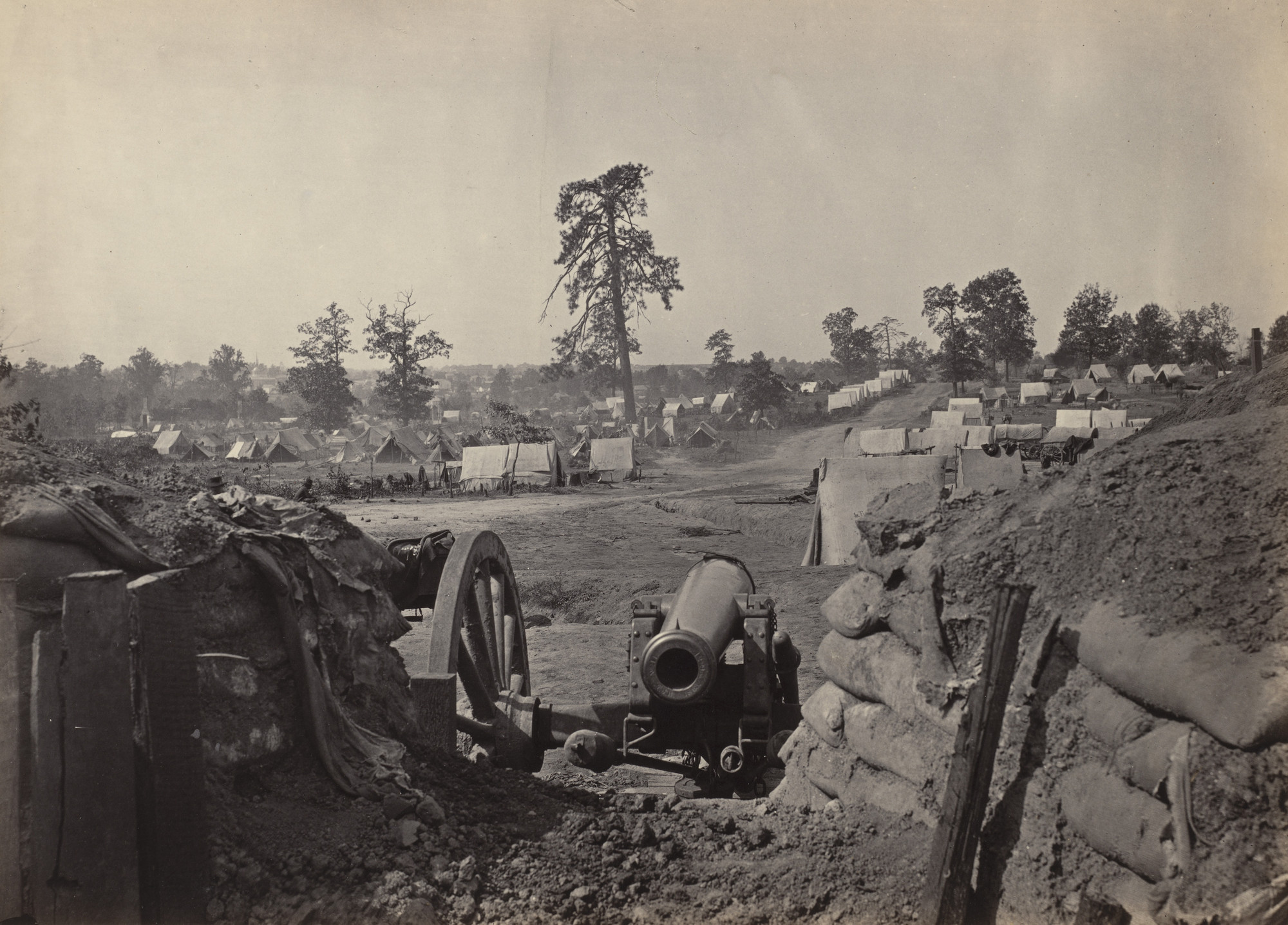 George Barnard. Atlanta, from the Works, No. 3 from the album Photographic Views of Sherman's Campaign. 1864-65