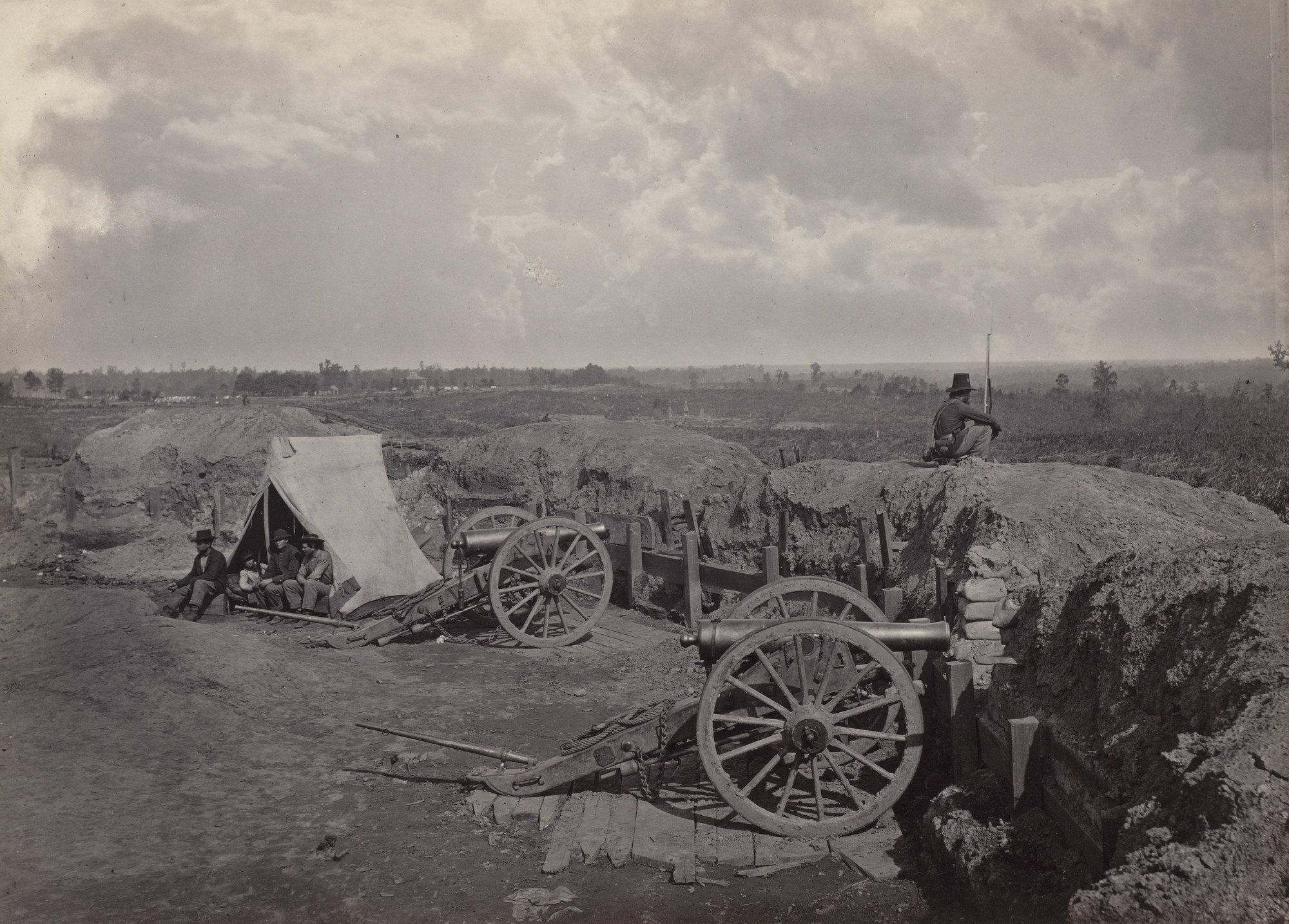 George Barnard. Rebel Works in front of Atlanta, No. 4 from the album Photographic Views of Sherman's Campaign. 1864-65