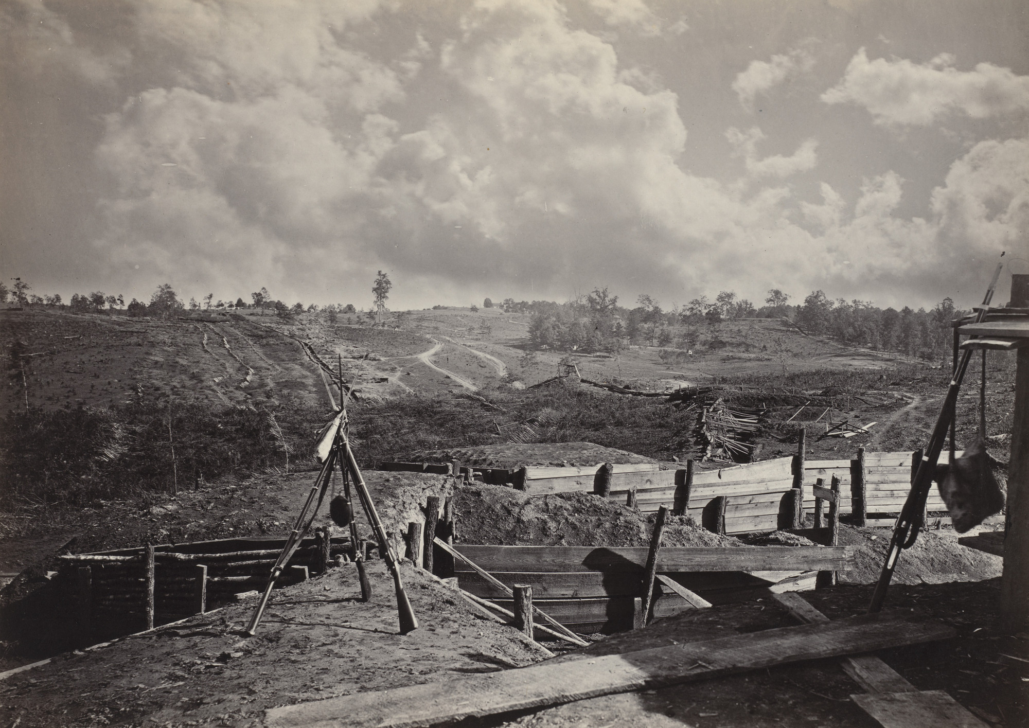 George Barnard. Rebel Works in front of Atlanta, No. 5 from the album Photographic Views of Sherman's Campaign. 1864-65
