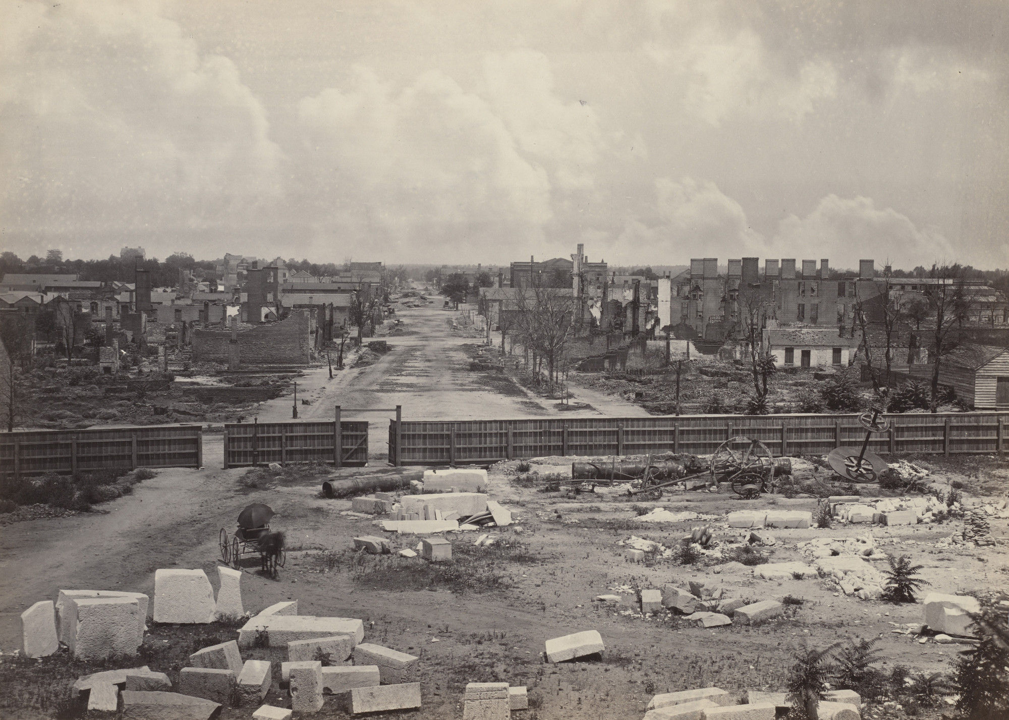 George Barnard. Columbia, from the Captiol from the album Photographic Views of Sherman's Campaign. 1864-65