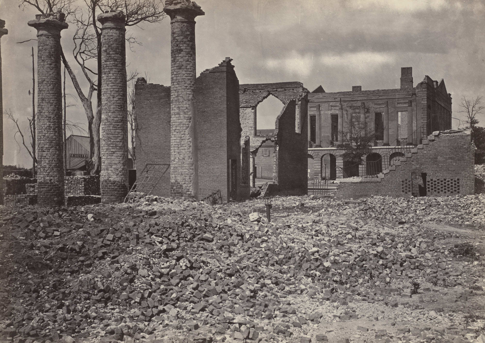 George Barnard. Ruins in Columbia, South Carolina from the album Photographic Views of Sherman's Campaign. 1864-65