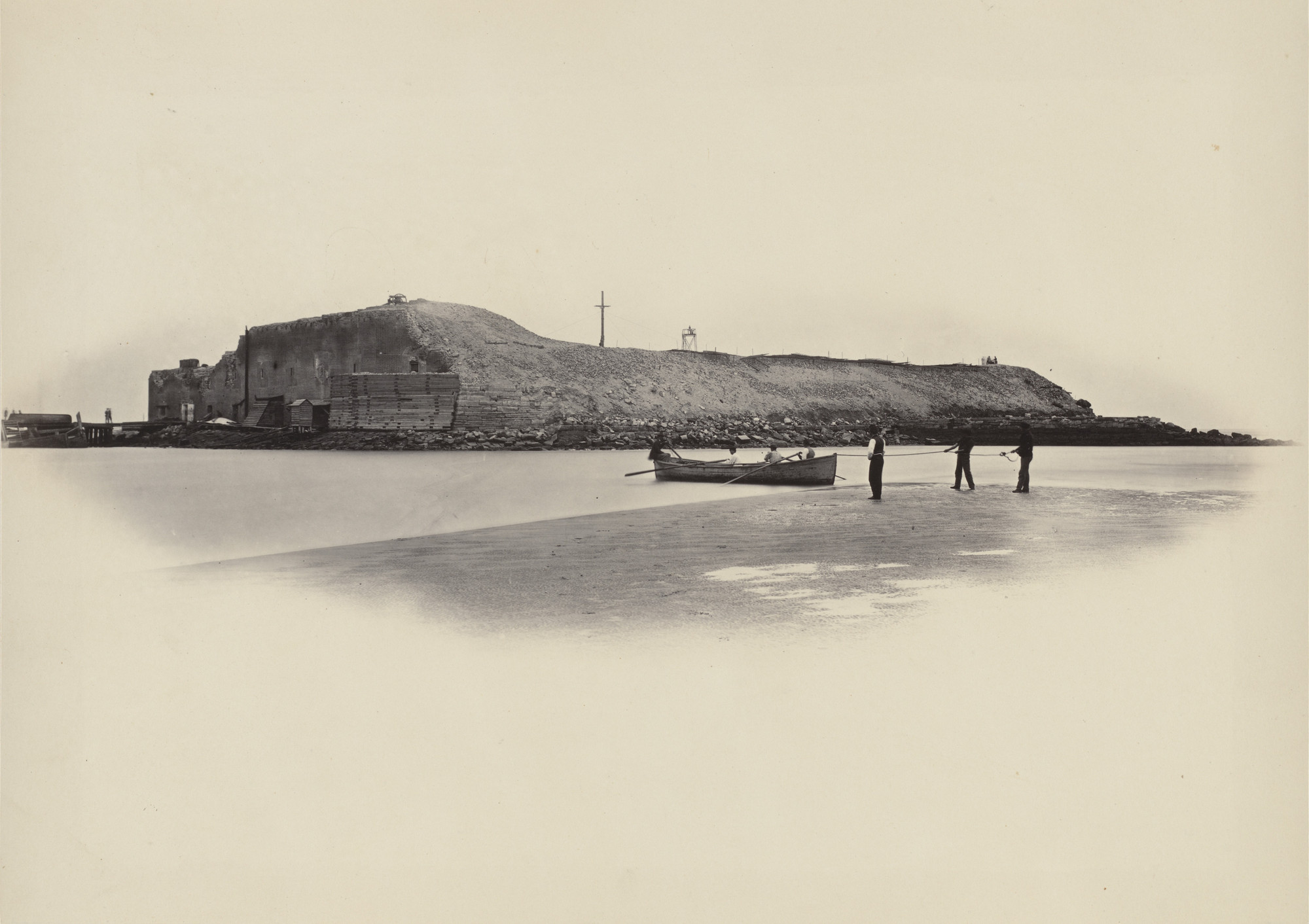George Barnard. Fort Sumter from the album Photographic Views of Sherman's Campaign. 1864-65