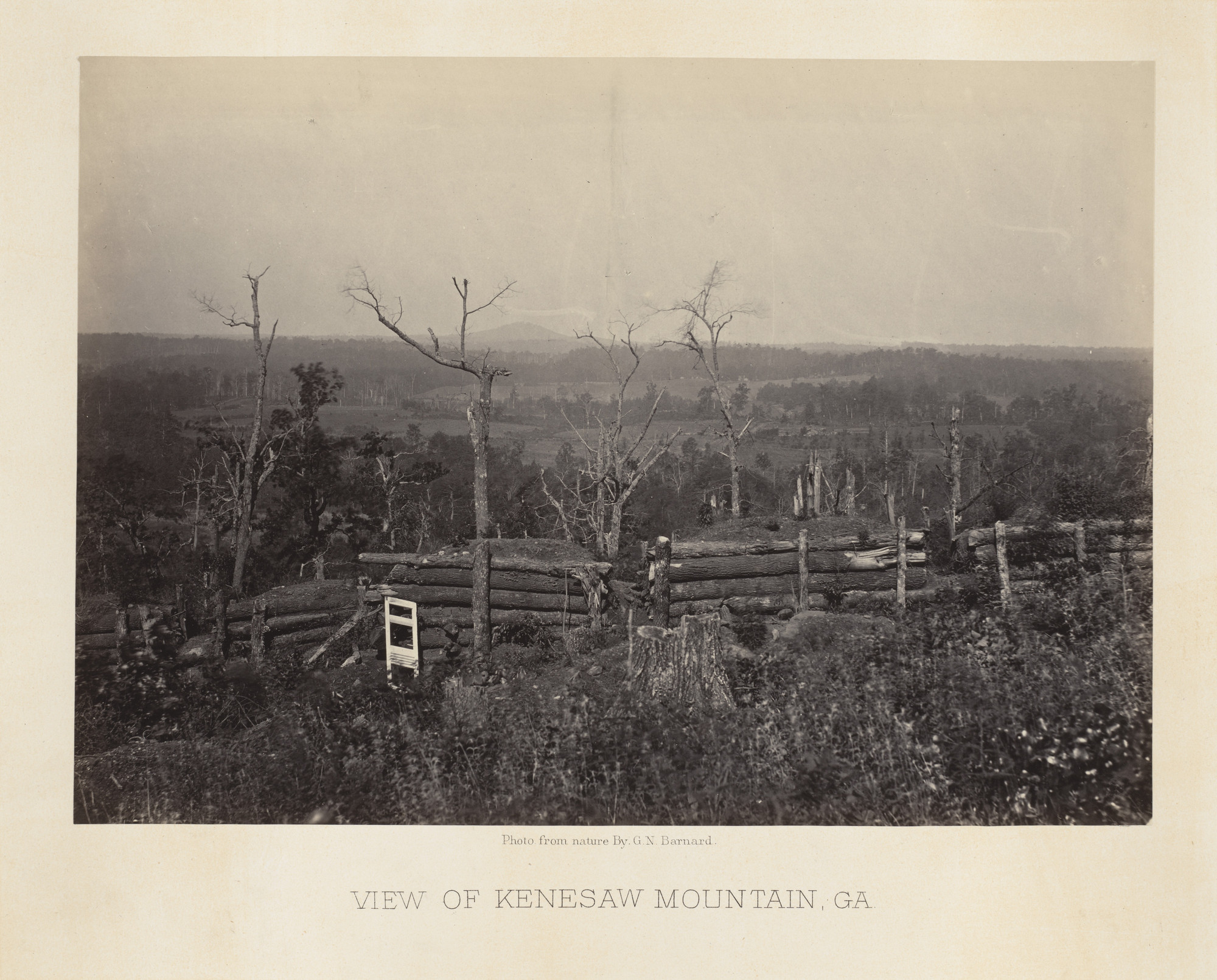George Barnard. View from Kenesaw Mountain from the album Photographic Views of Sherman's Campaign. 1864-65