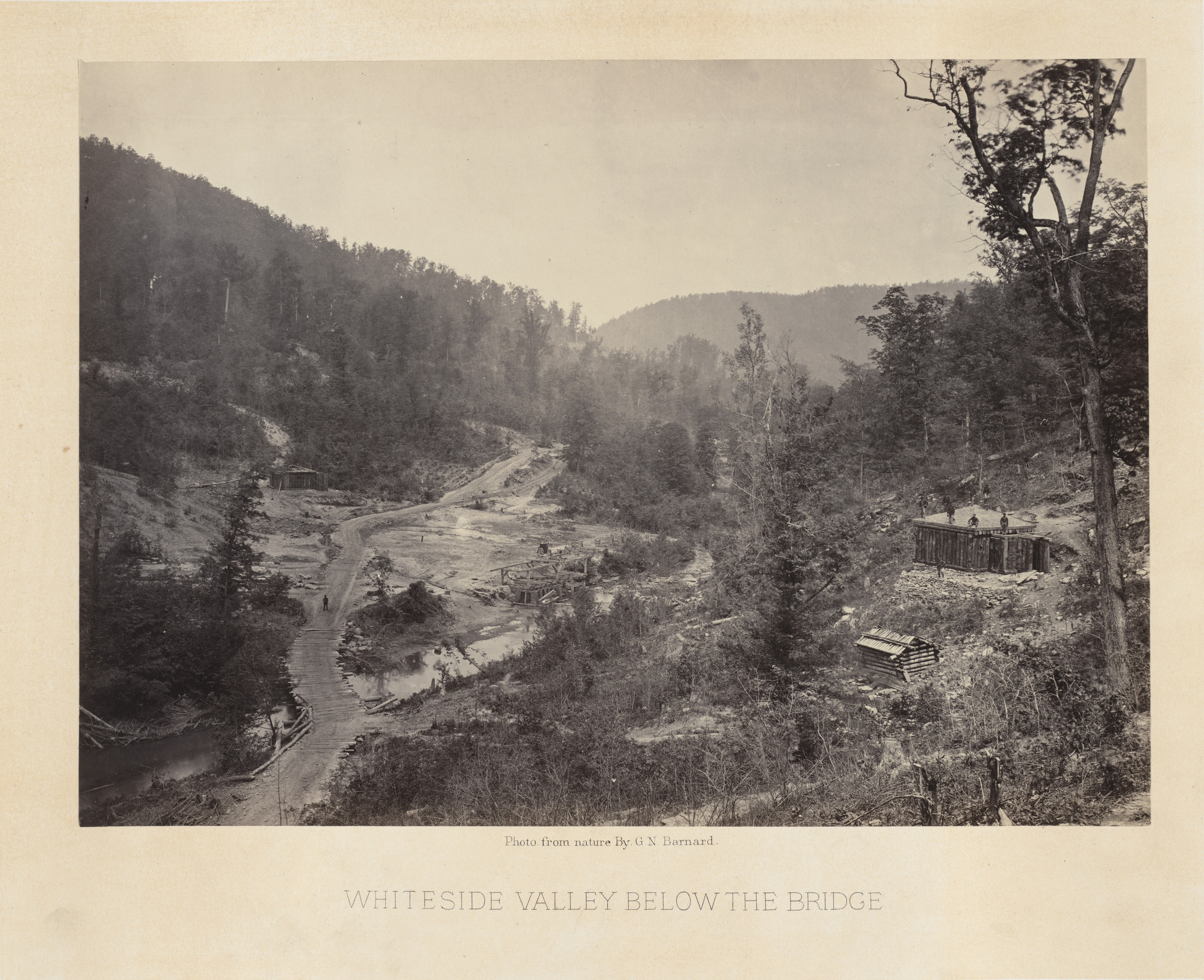 George Barnard. Whiteside Valley, below the Bridge from the album Photographic Views of Sherman's Campaign. 1864-65
