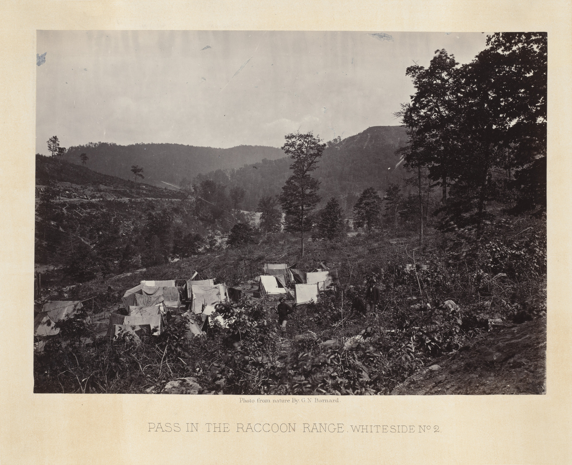 George Barnard. Pass in the Raccoon Range, No. 2 from the album Photographic Views of Sherman's Campaign. 1864-65