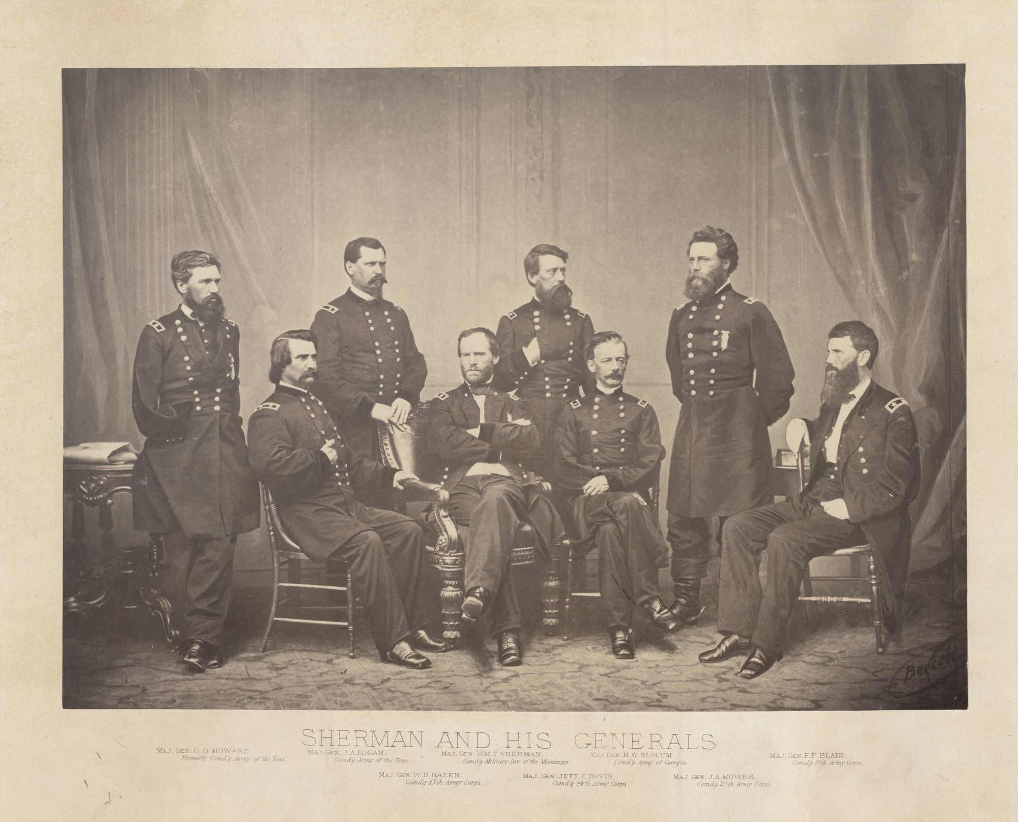 George Barnard. Sherman and his Generals from the album Photographic Views of Sherman's Campaign. 1864-65