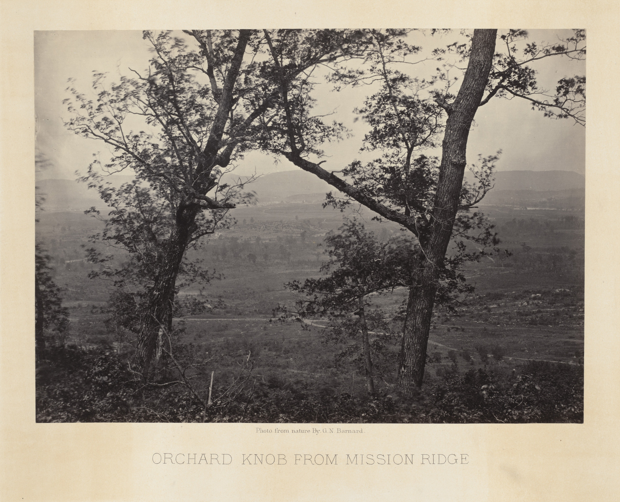 George Barnard. Orchard Knob, from Mission Ridge from the album Photographic Views of Sherman's Campaign. 1864-65