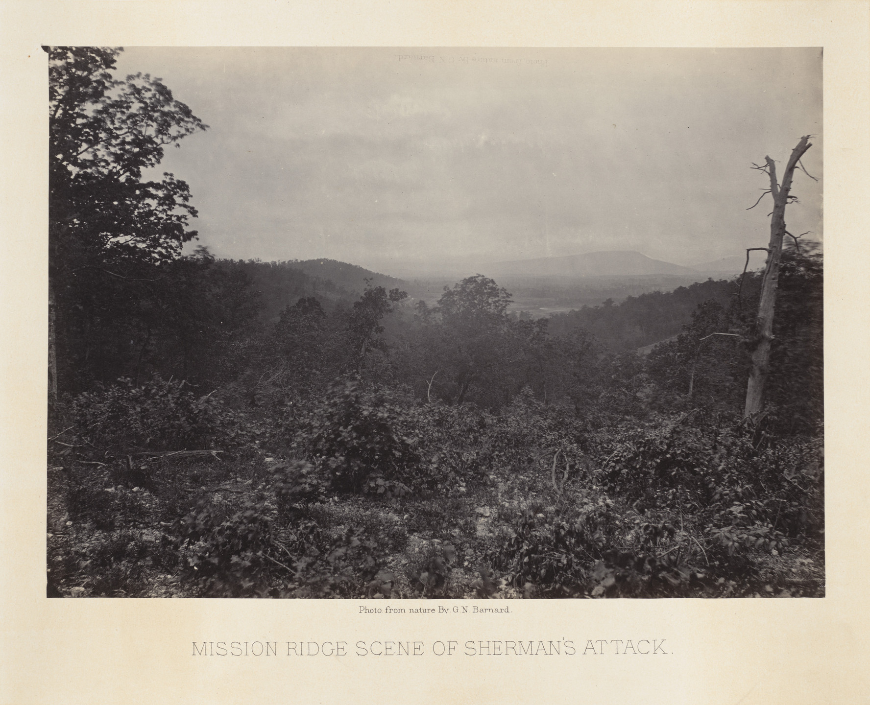 George Barnard. Mission Ridge, Scene of Sherman's Attack from the album Photographic Views of Sherman's Campaign. 1864-65