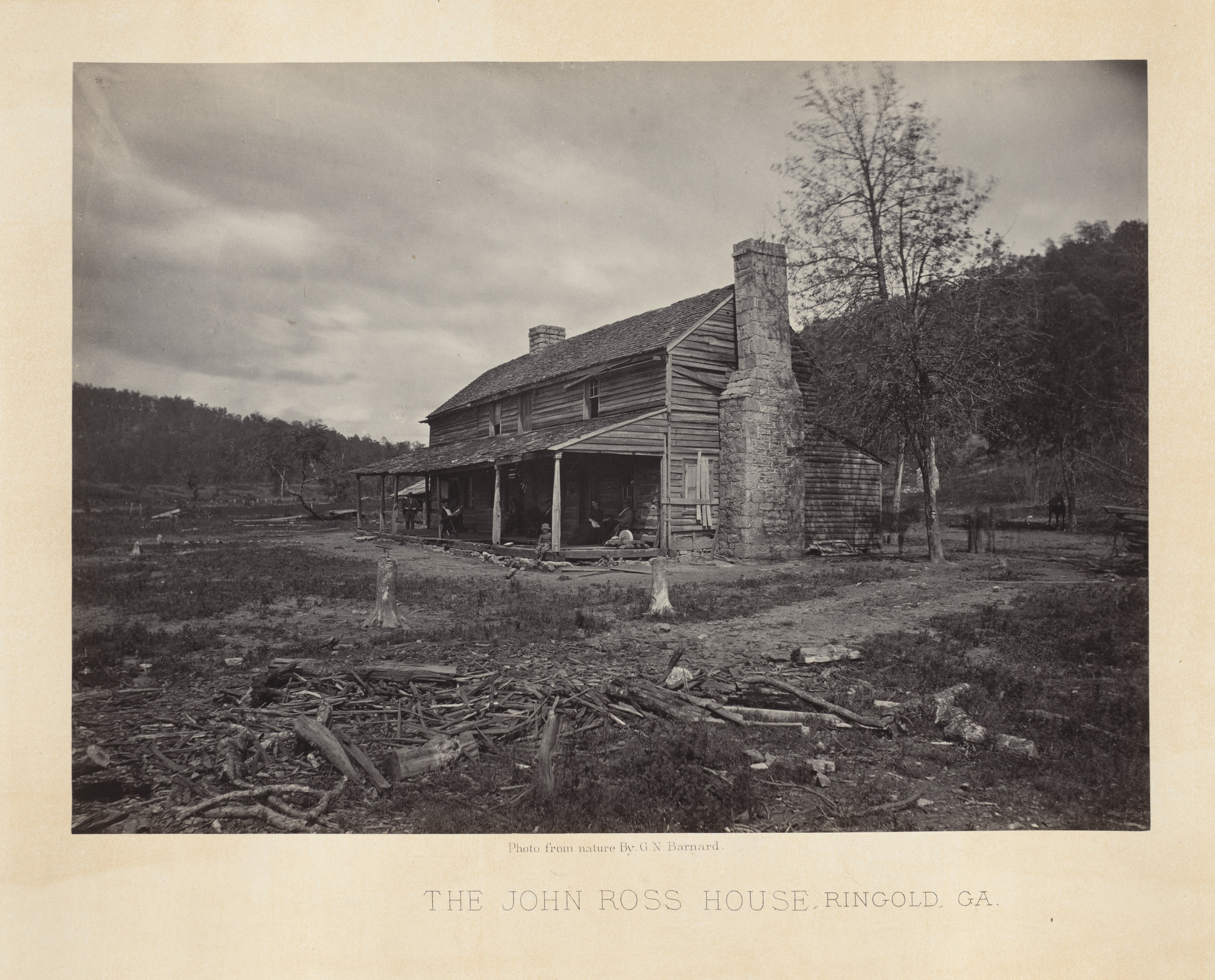 George Barnard. The John Ross House from the album Photographic Views of Sherman's Campaign. 1864-65