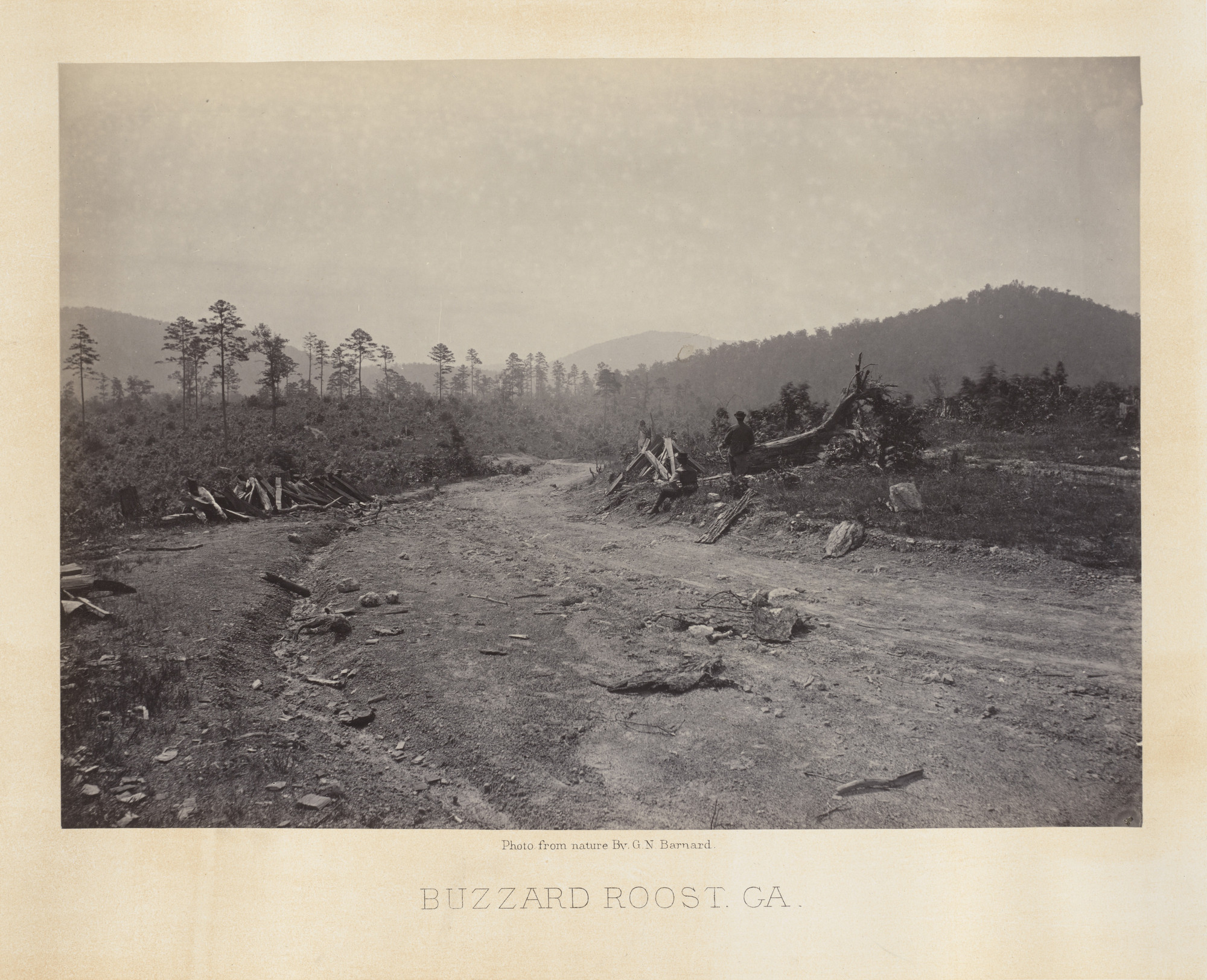 George Barnard. Buzzard Roost from the album Photographic Views of Sherman's Campaign. 1864-65