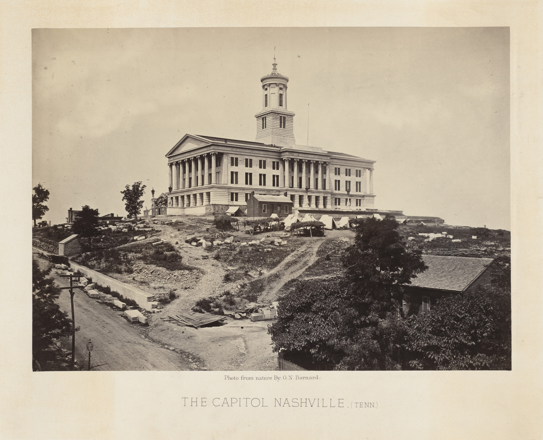 "George Barnard. The ""Capitol,"" Nashville, Tennessee from the album Photographic Views of Sherman's Campaign. 1864-65"
