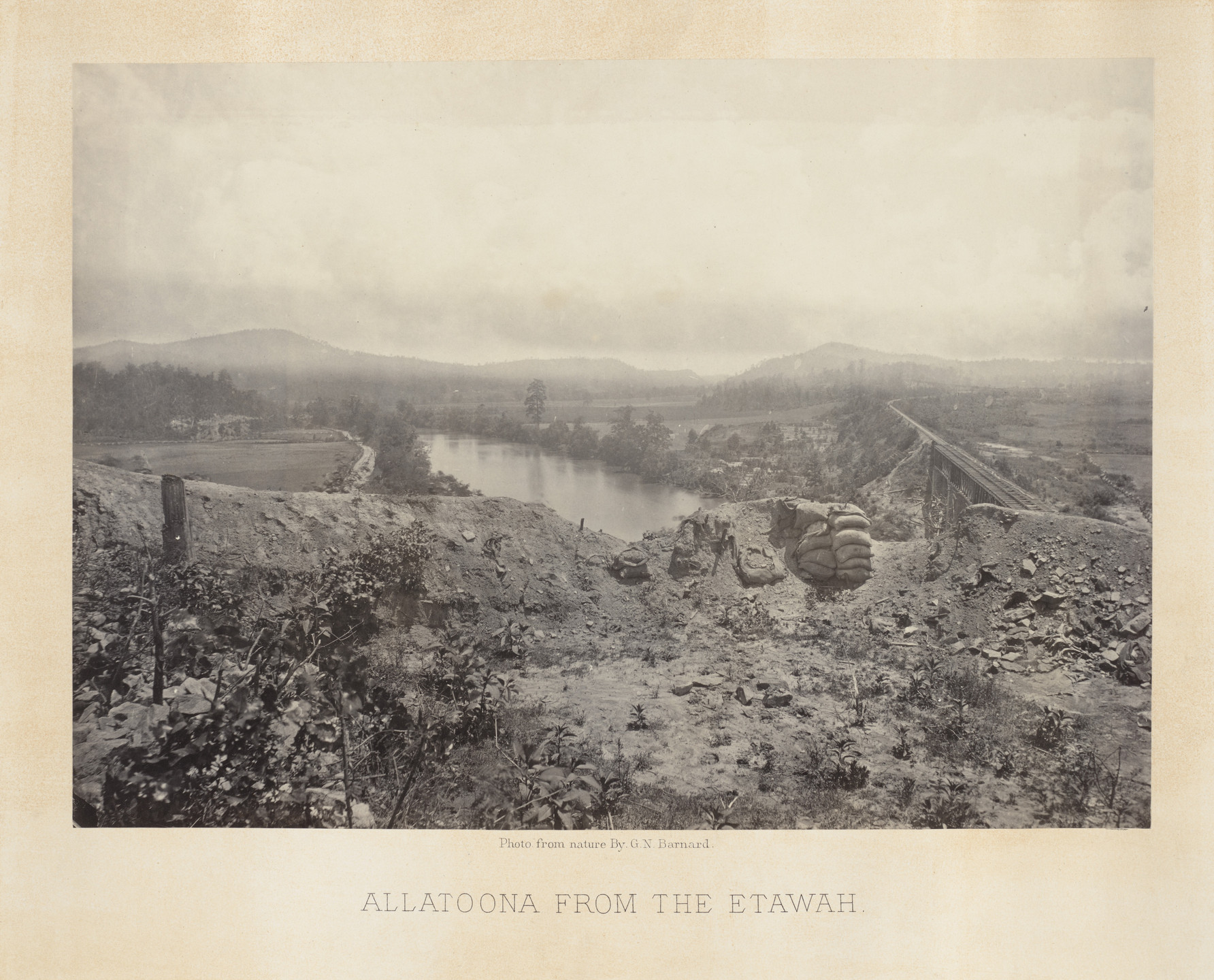 George Barnard. Allatoona Pass, from the Etawah from the album Photographic Views of Sherman's Campaign. 1864-65