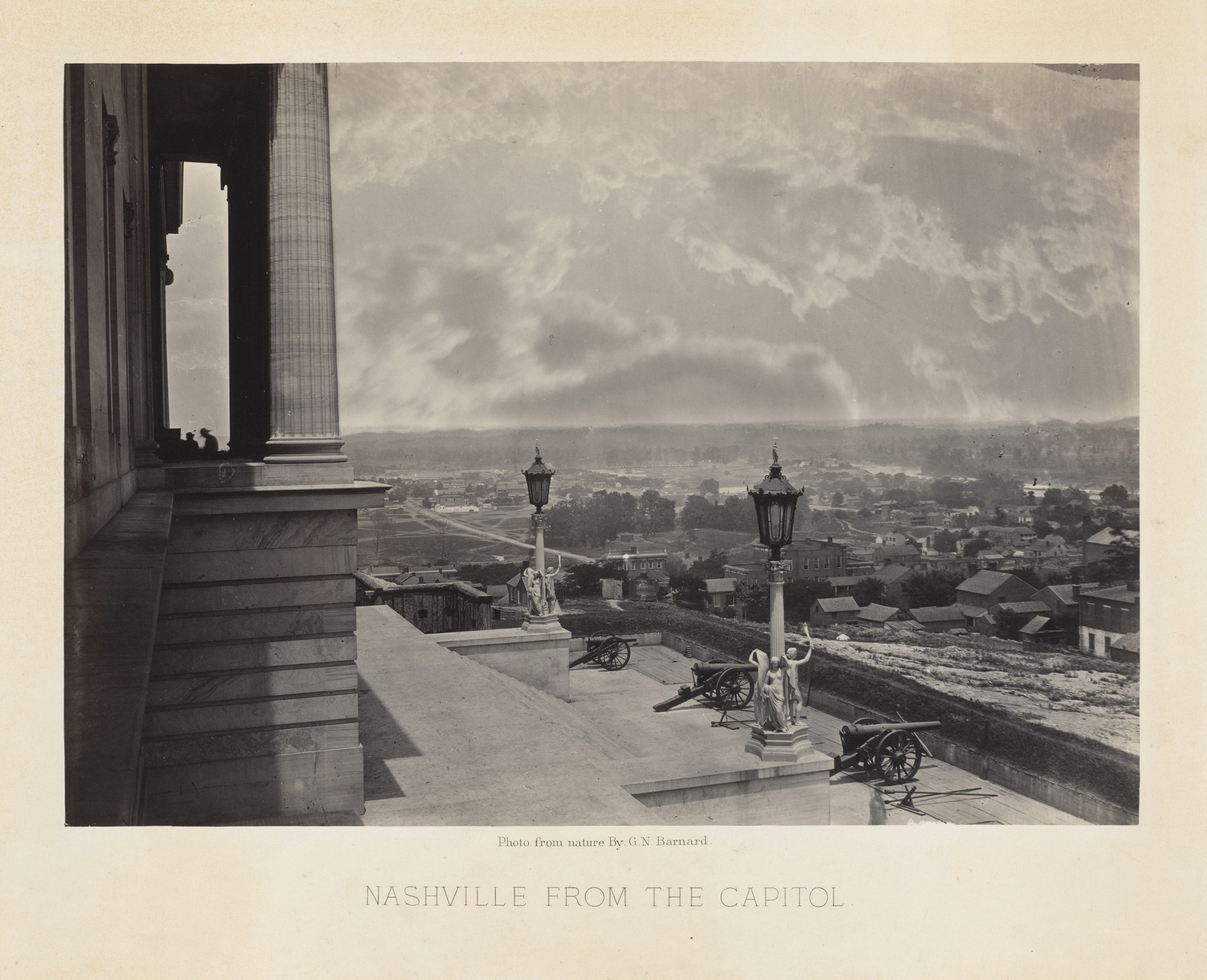 George Barnard. Nashville, from the Capitol from the album Photographic Views of Sherman's Campaign. 1864-65