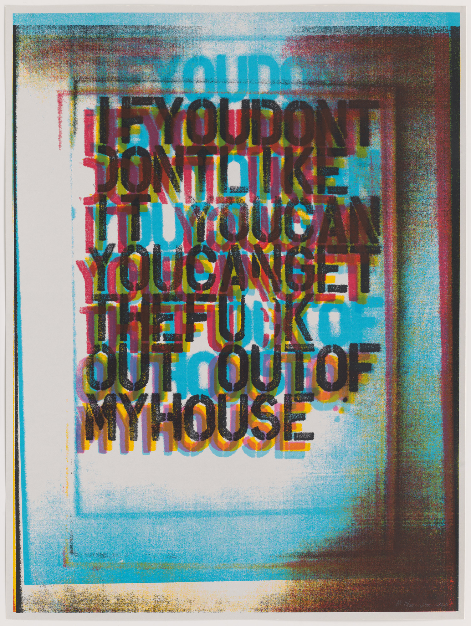 Christopher Wool. My House II. 2000