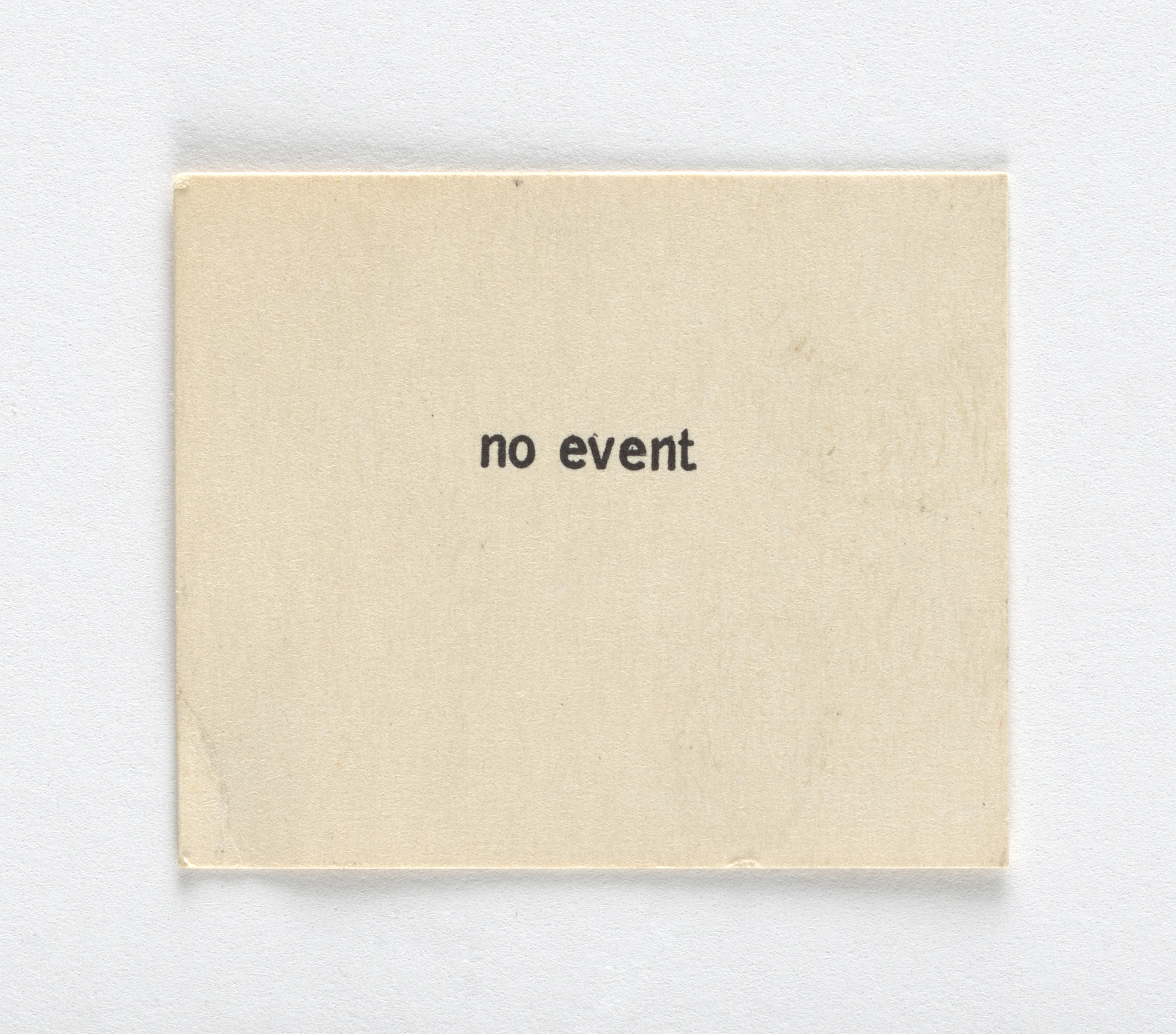 Robert Watts. No Event. 1963