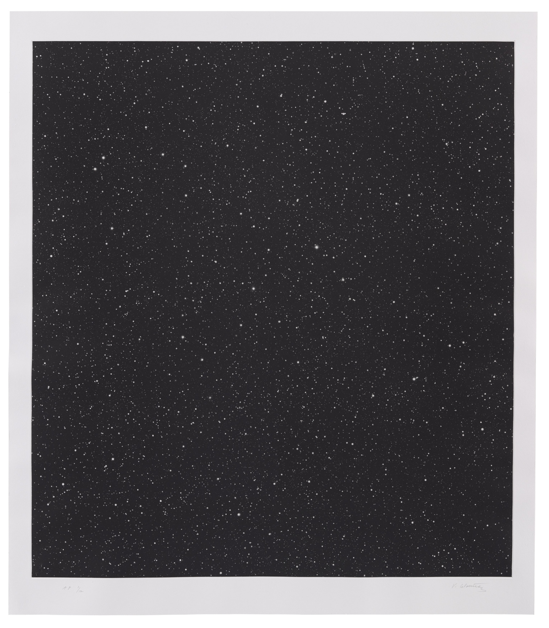 Vija Celmins. Untitled (Large Night Sky). 2016