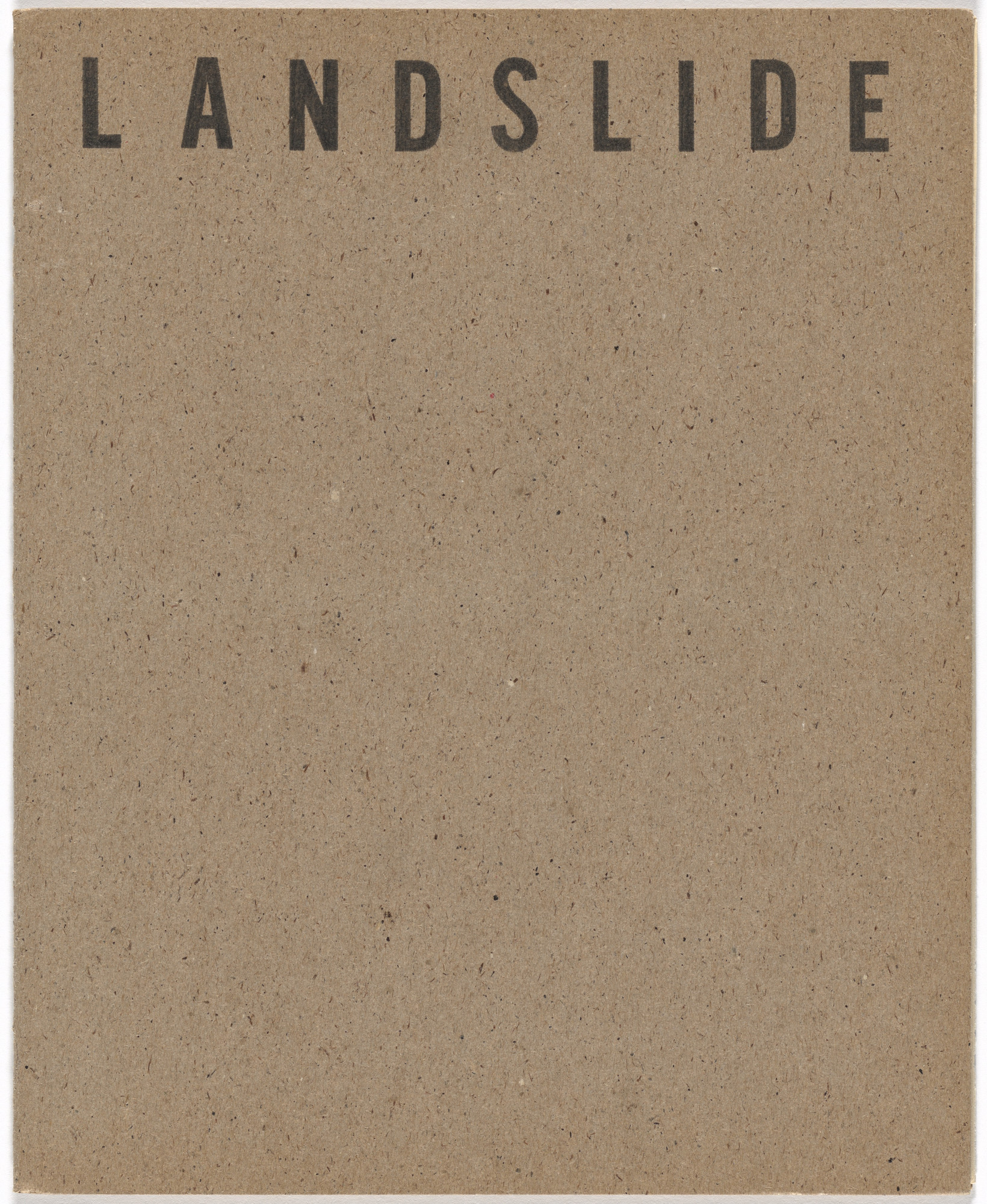 William Leavitt, Bas Jan Ader. Landslide, no. 4. 1969
