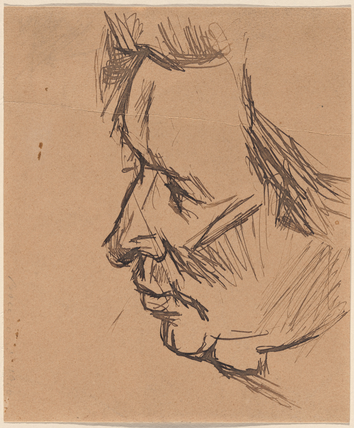 Umberto Boccioni. Study for Portrait of Ferrucio Busoni. 1916
