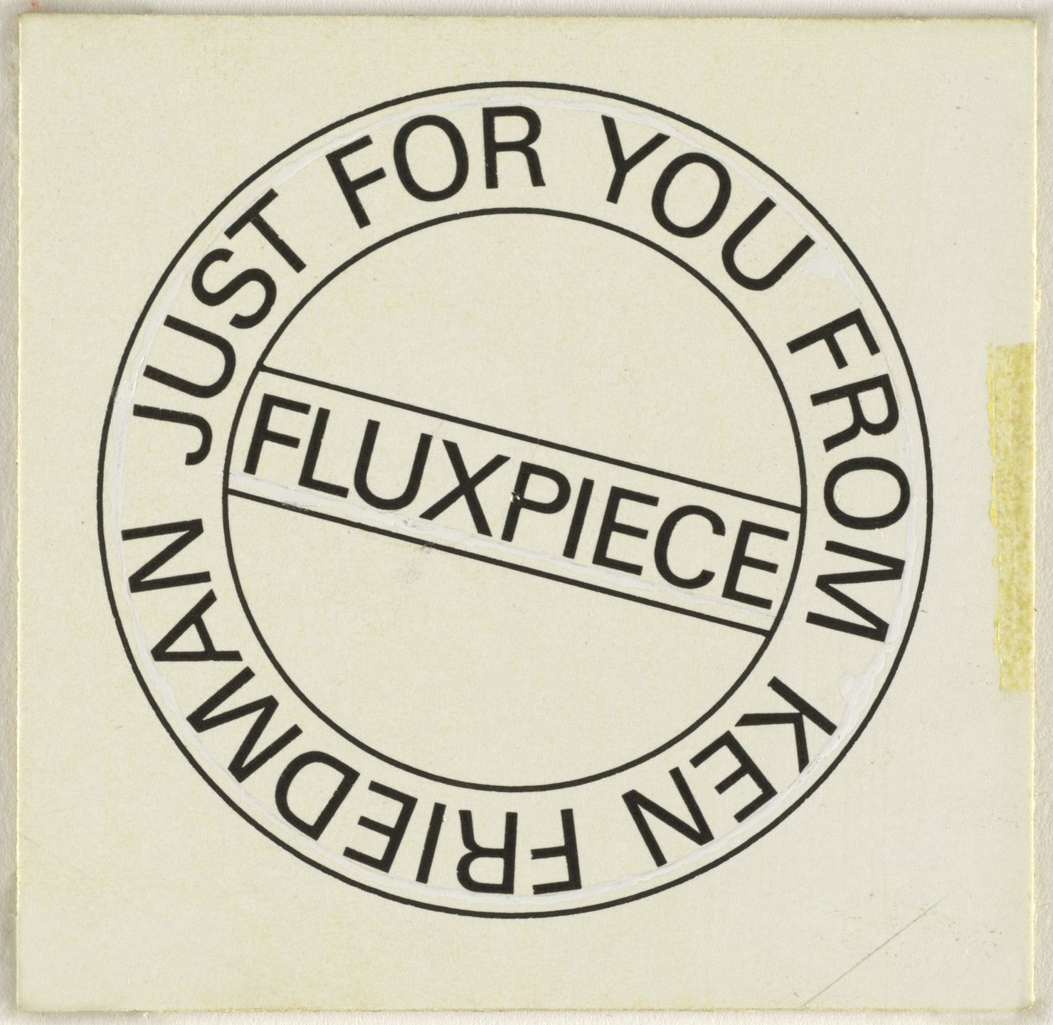 George Maciunas, Ken Friedman. Mechanical for Just for You. c. 1967