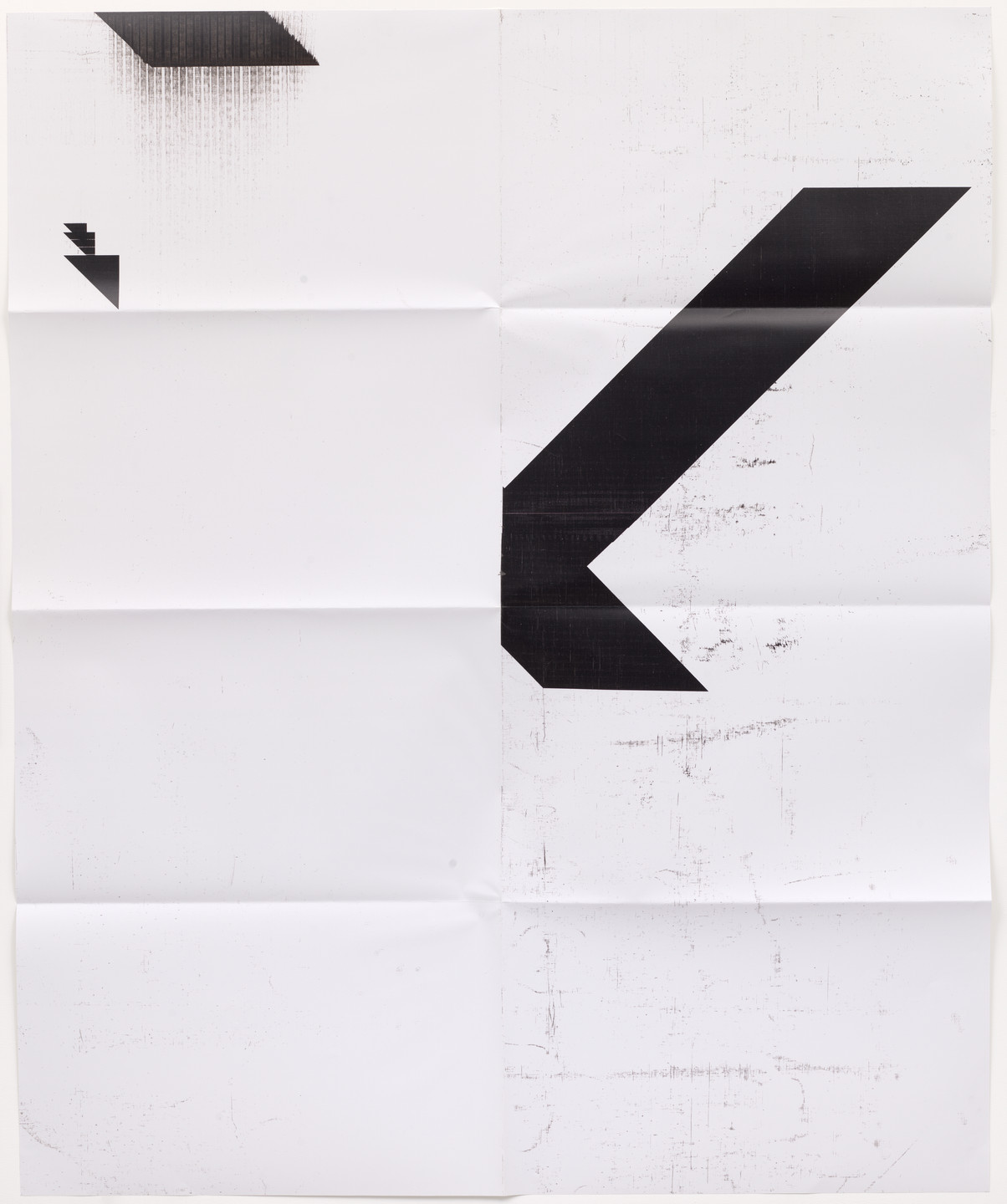 Wade Guyton. X Poster (Untitled, 2008, Epson UltraChrome inkjet on linen, 84 x 69 in, WG2001). 2016