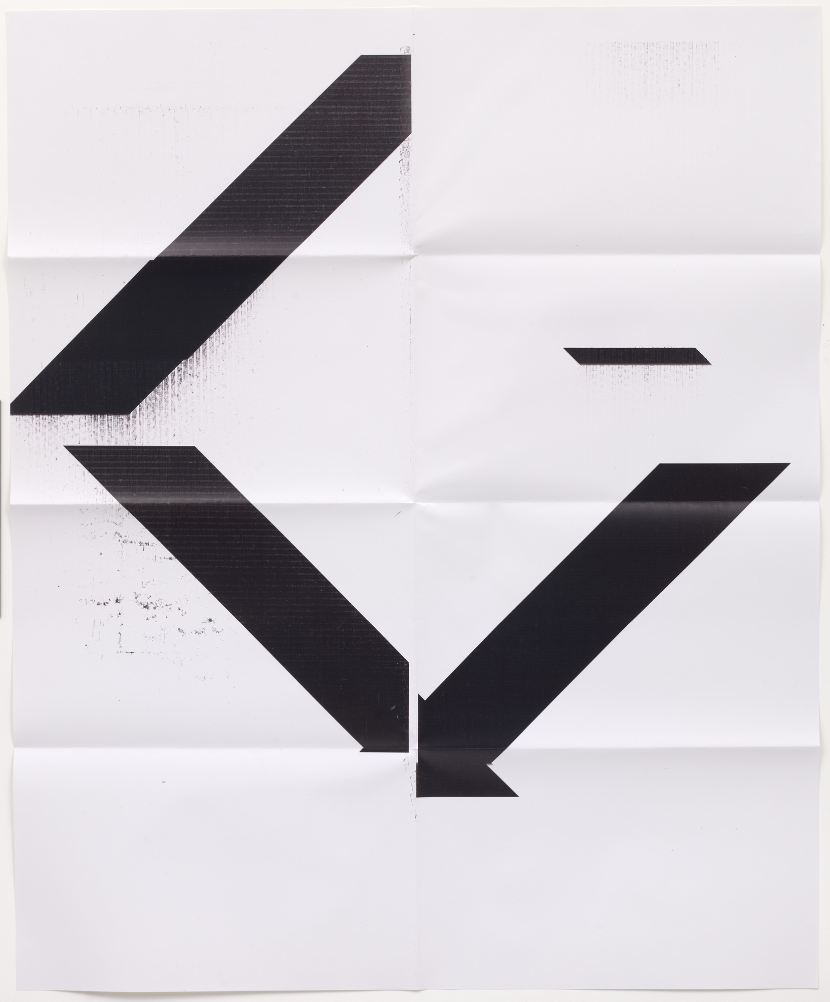 Wade Guyton. X Poster (Untitled, 2007, Epson UltraChrome inkjet on linen, 84 x 69 inches, WG1208). 2017