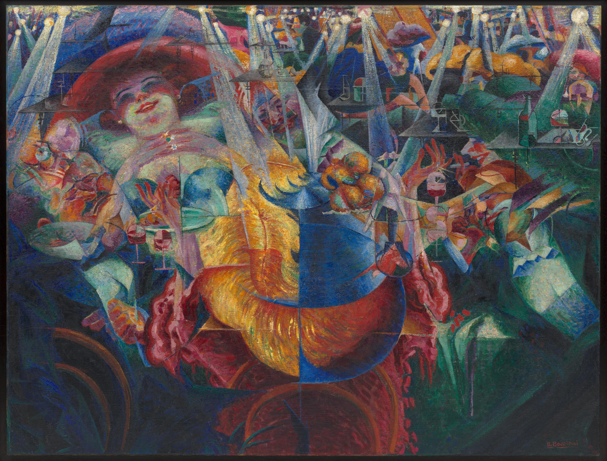 Umberto Boccioni. The Laugh. 1911