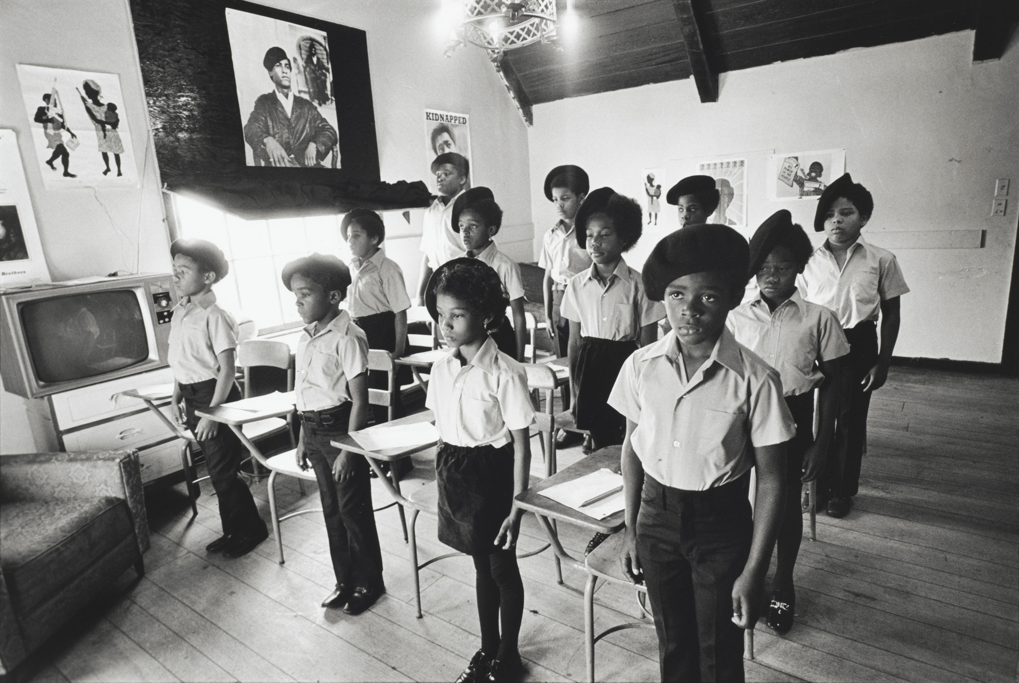 Stephen Shames. Black Panther children in a classroom at the Intercommunal Youth Institute, the Black Panther school, Oakland, California. 1971