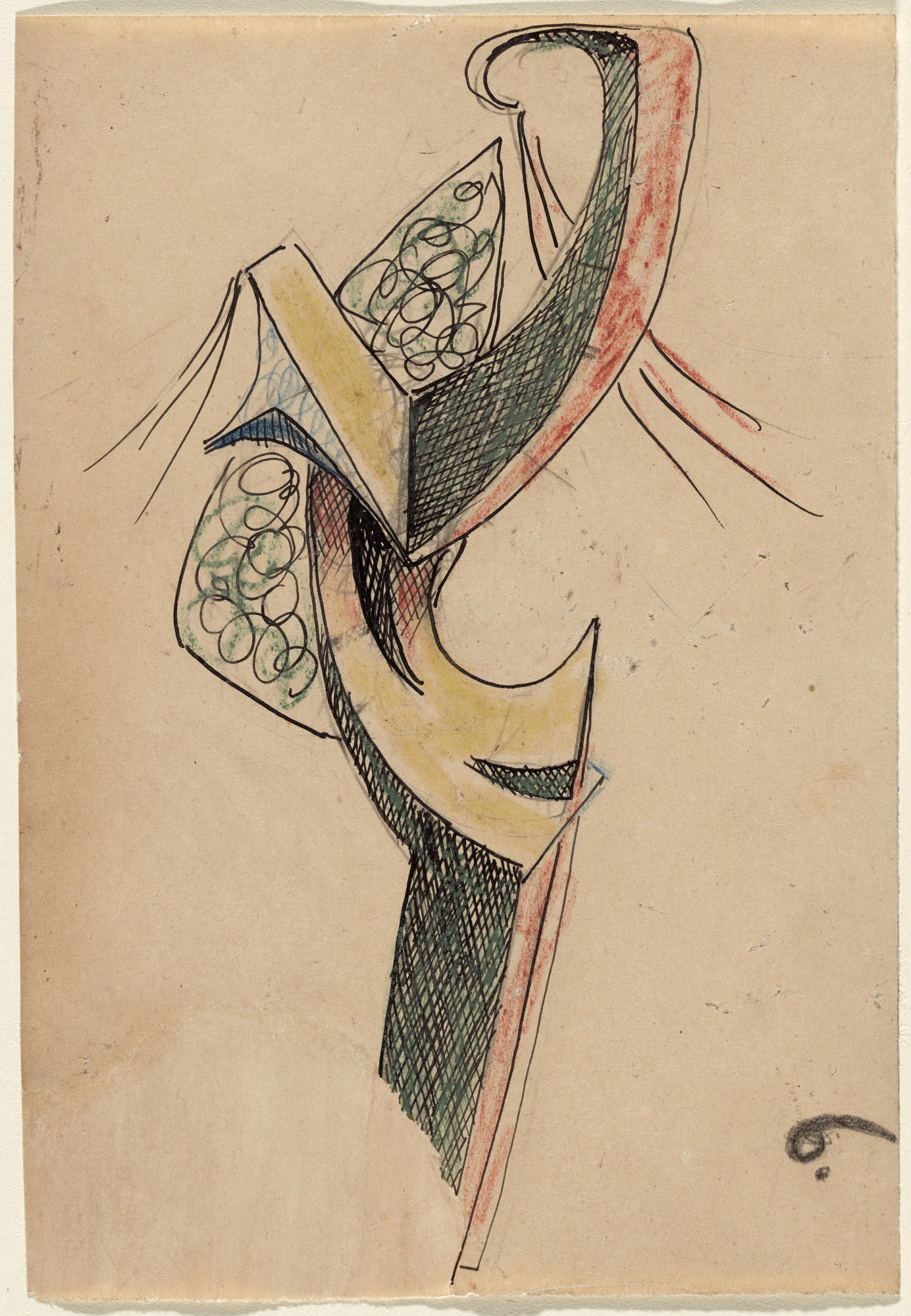 Julio González. Study for Woman Combing Her Hair. (1936)