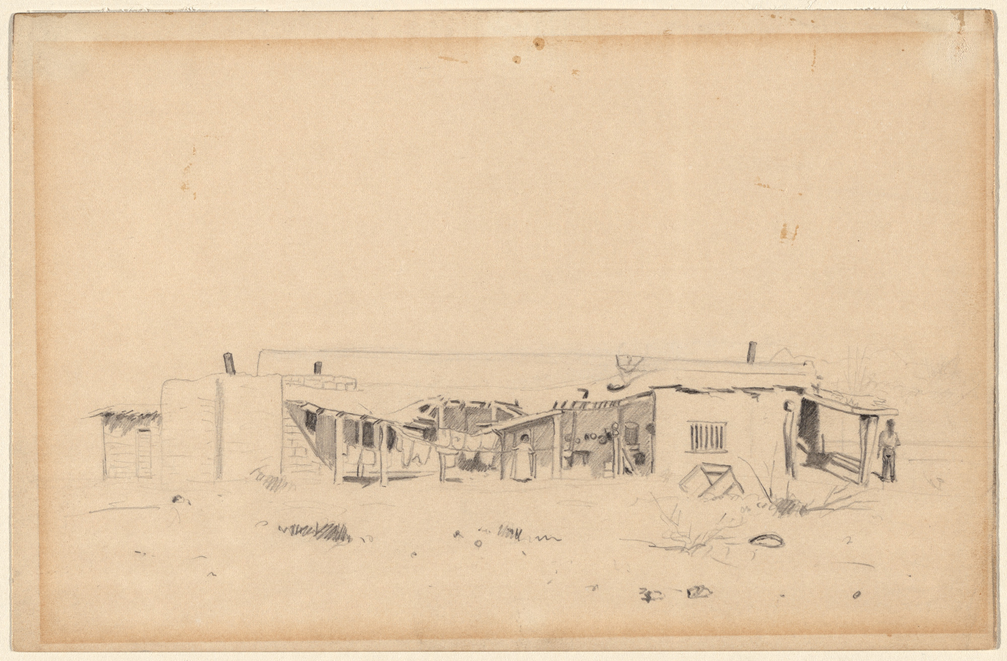 Louis Michel Eilshemius. Indian Adobe House, Yuma, Arizona. 1894