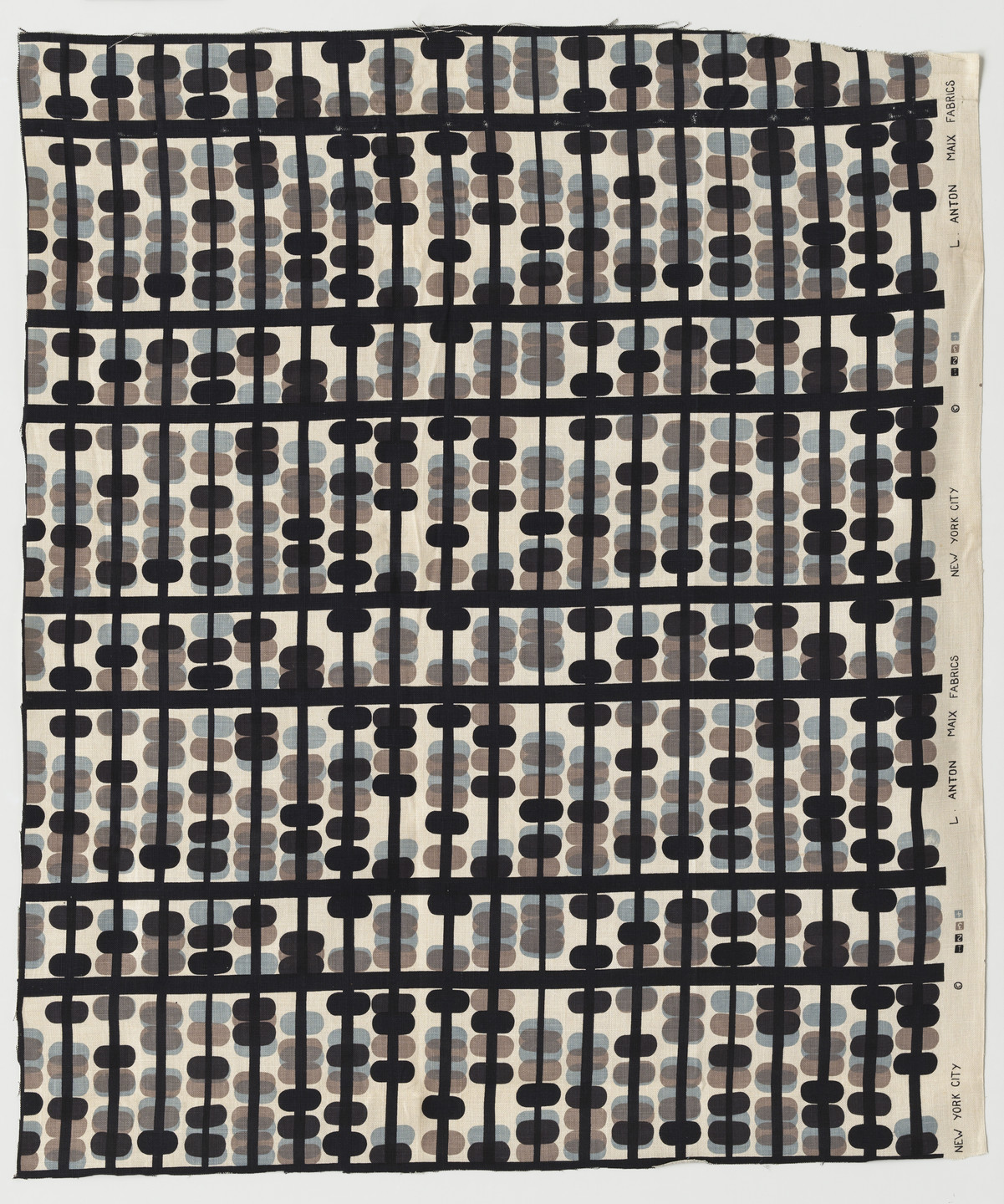 Paul Rand. Abacus (Furnishing fabric). c.1946
