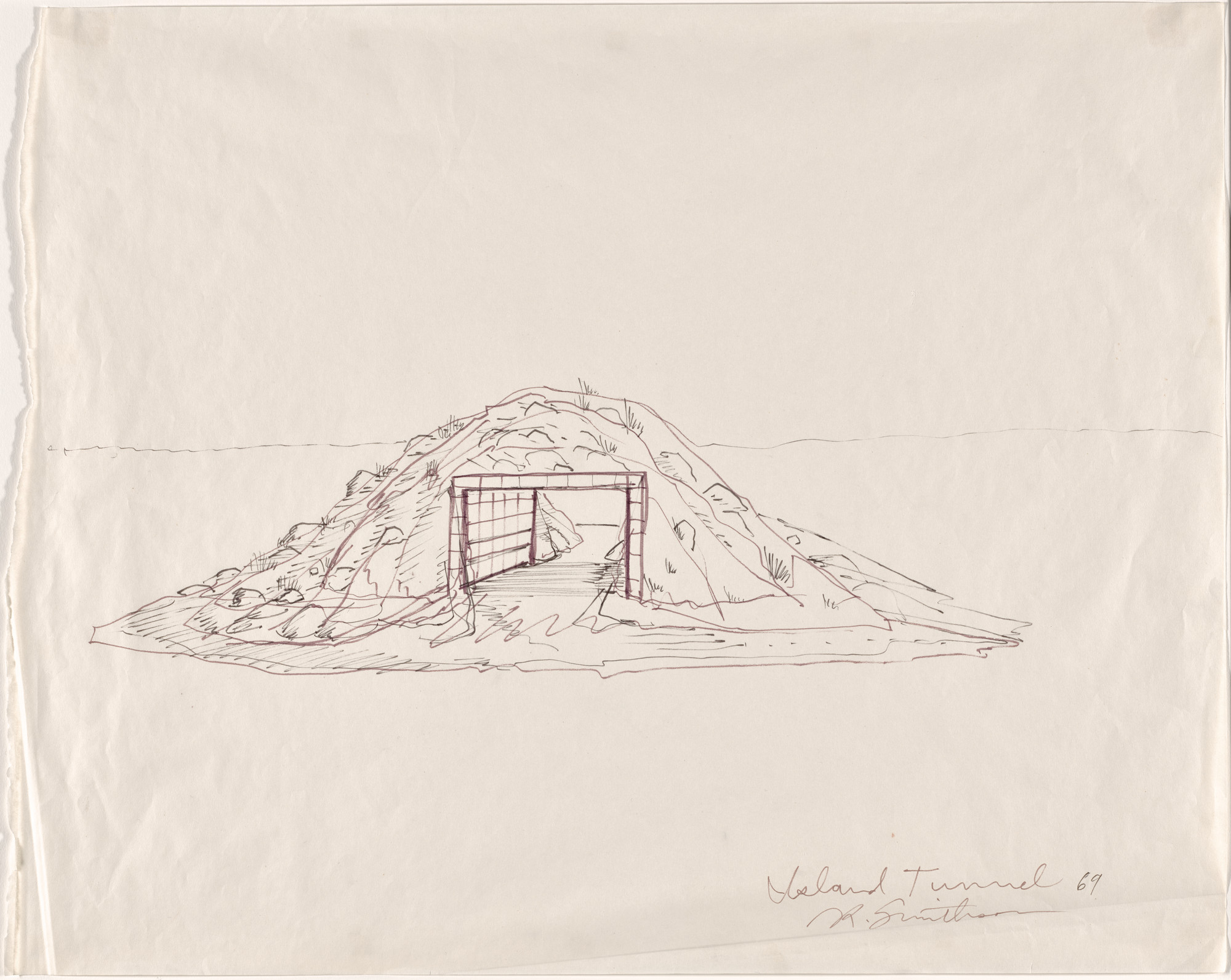 Robert Smithson. Island Tunnel. 1969