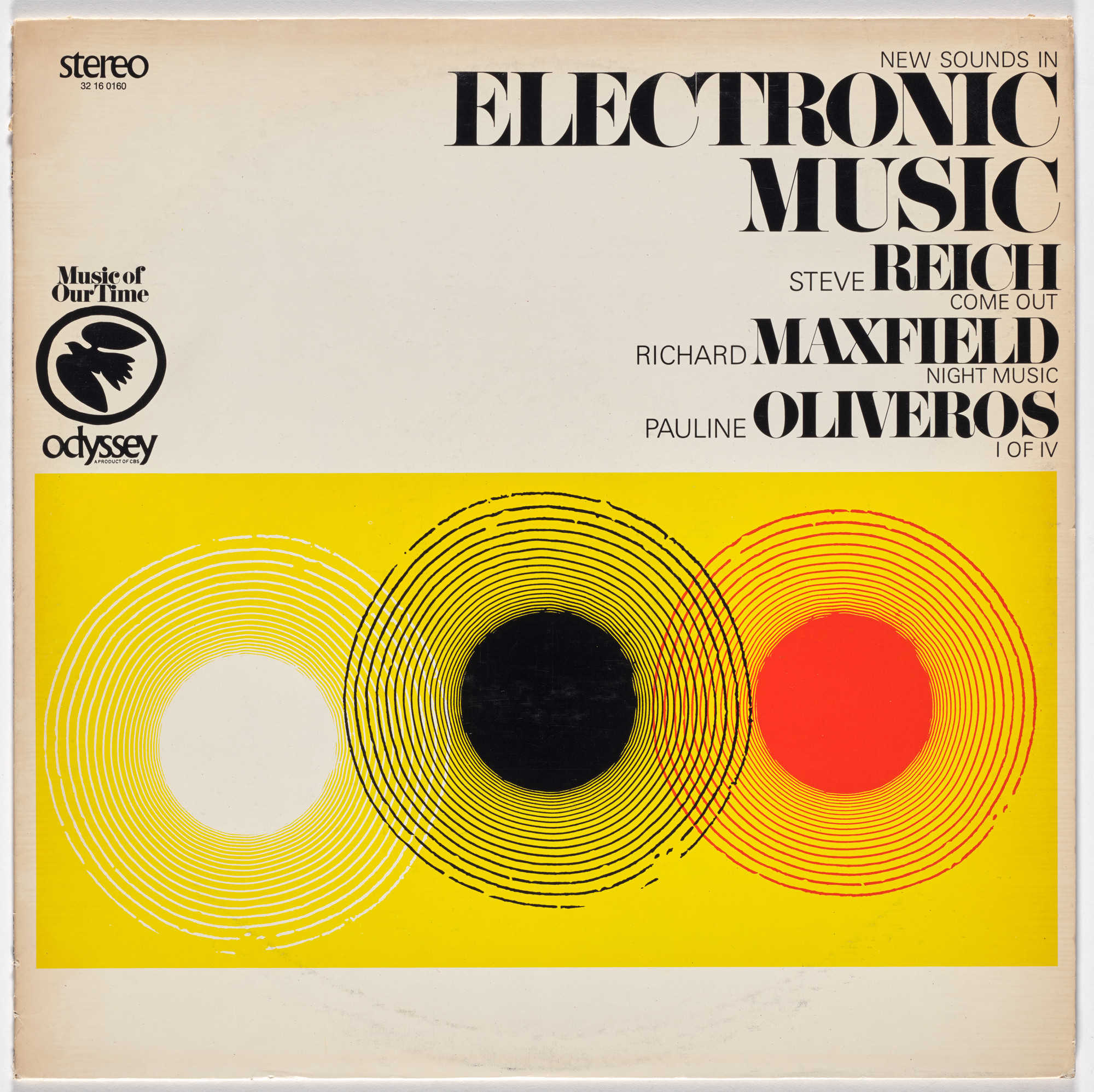Richard Maxfield, Pauline Oliveros, Steve Reich, Various Artists. New Sounds in Electronic Music. 1967
