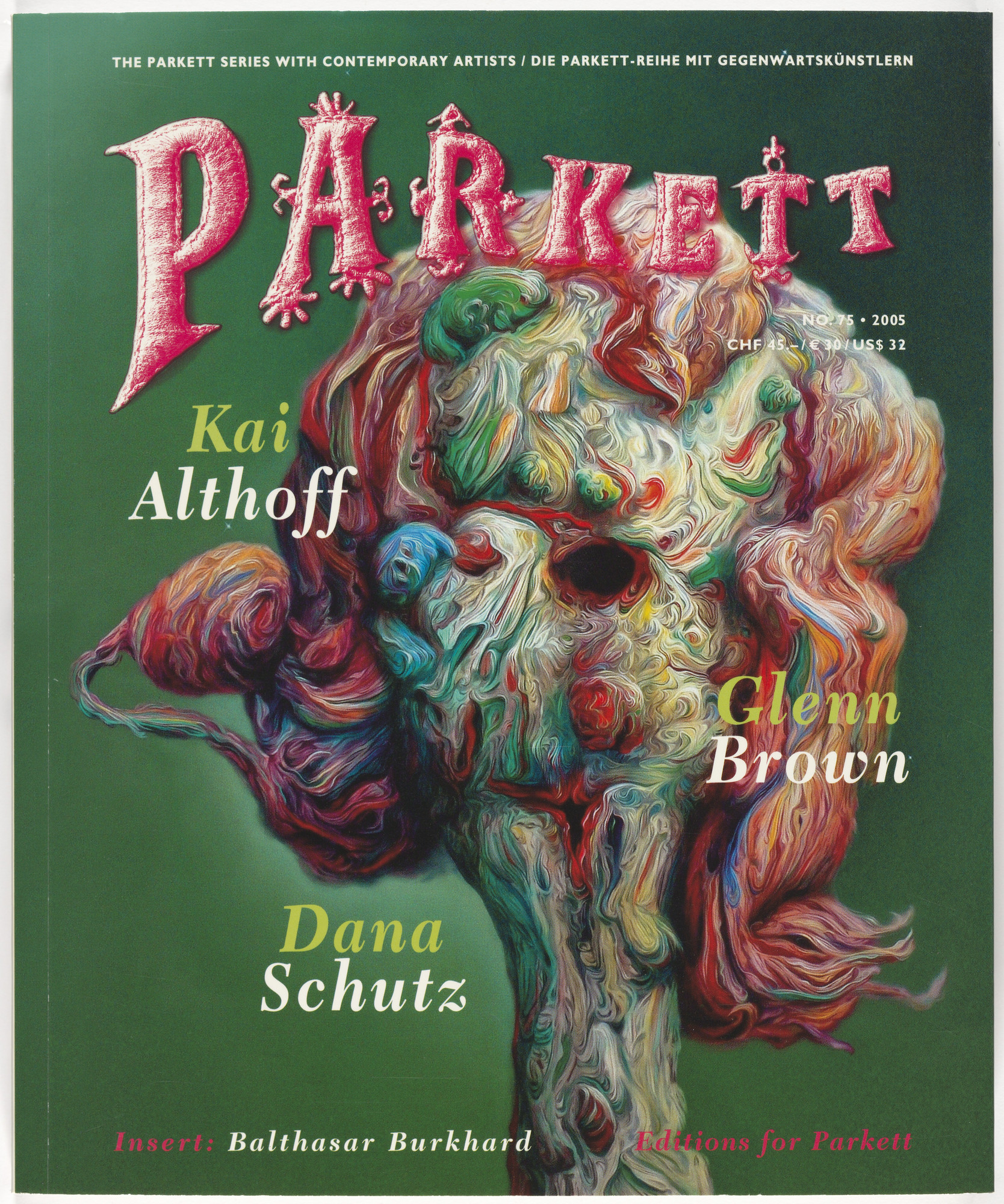 Various Artists, Kai Althoff, Glenn Brown, Dana Schutz, Carsten Nicolai. Parkett no. 75. 2006