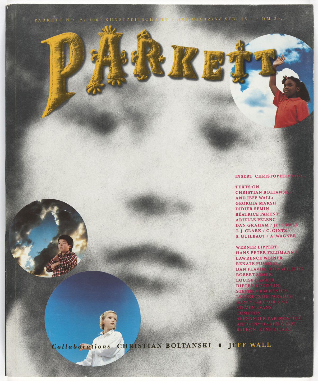 Christian Boltanski, Jeff Wall, Christopher Wool, Ross Bleckner, Various Artists. Parkett no. 22. 1989