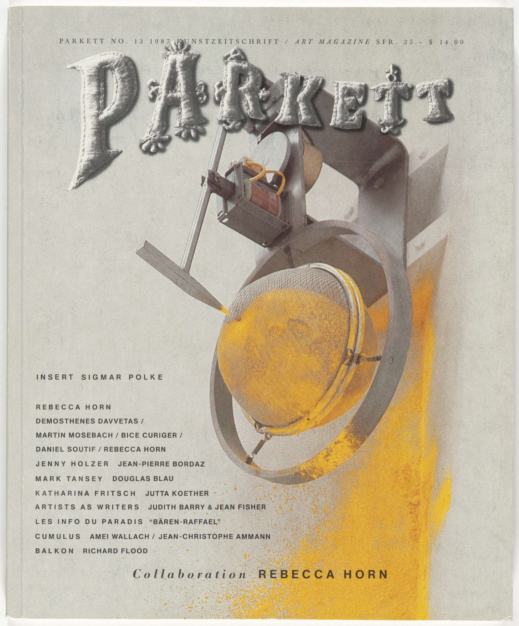 Various Artists, Rebecca Horn, Sigmar Polke. Parkett no. 13. 1987