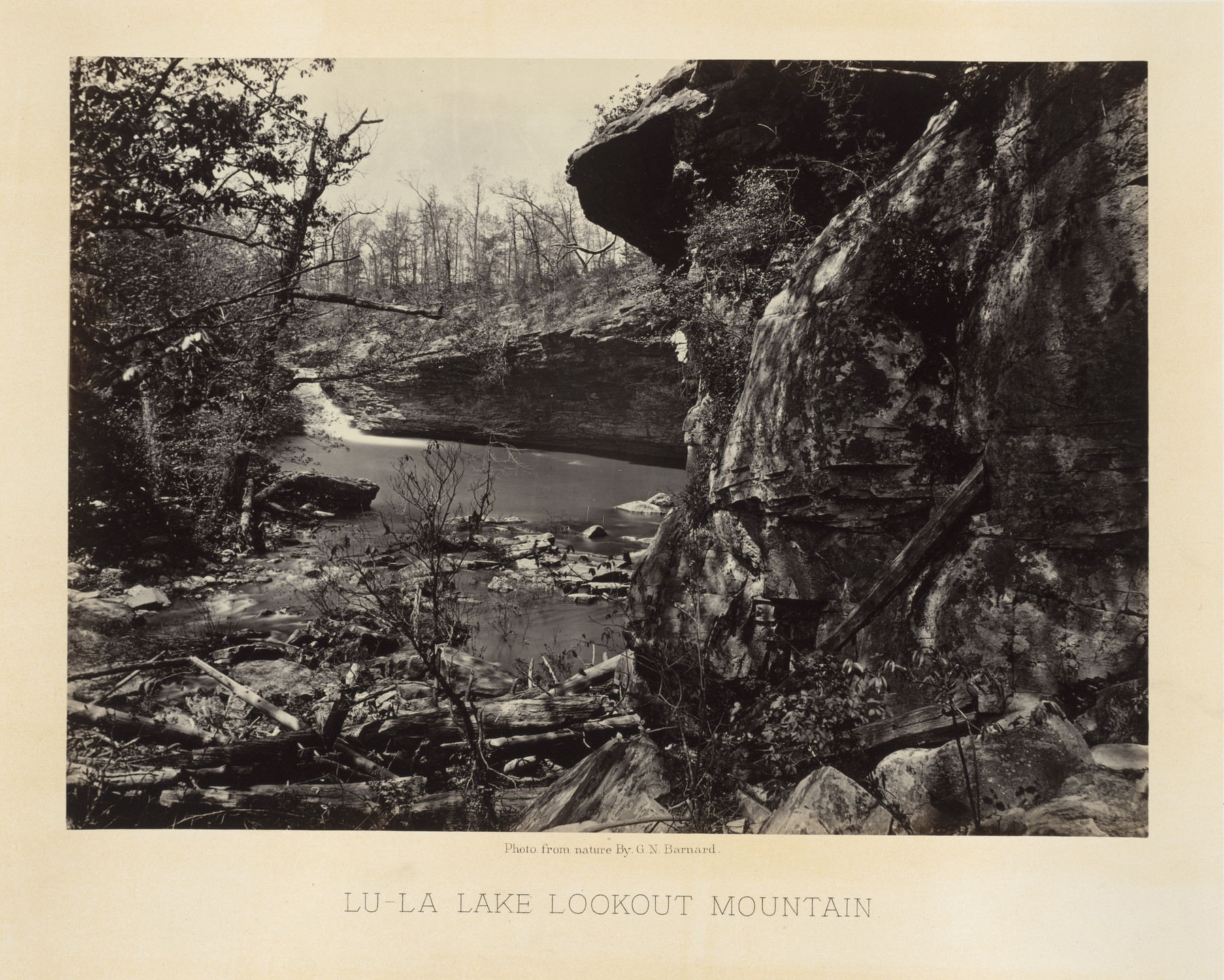 George Barnard. Lu-La-Lake, Lookout Mountain from the album Photographic Views of Sherman's Campaign. 1864-65